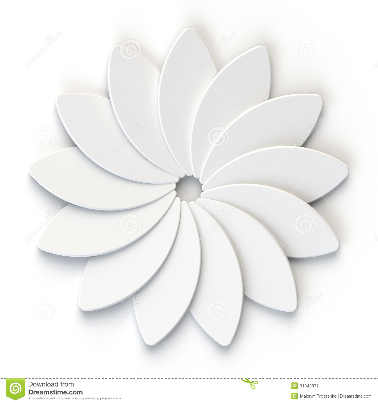 3d abstract white flower on white background stock illustration 3d abstract white flower on white background royalty free illustration mightylinksfo