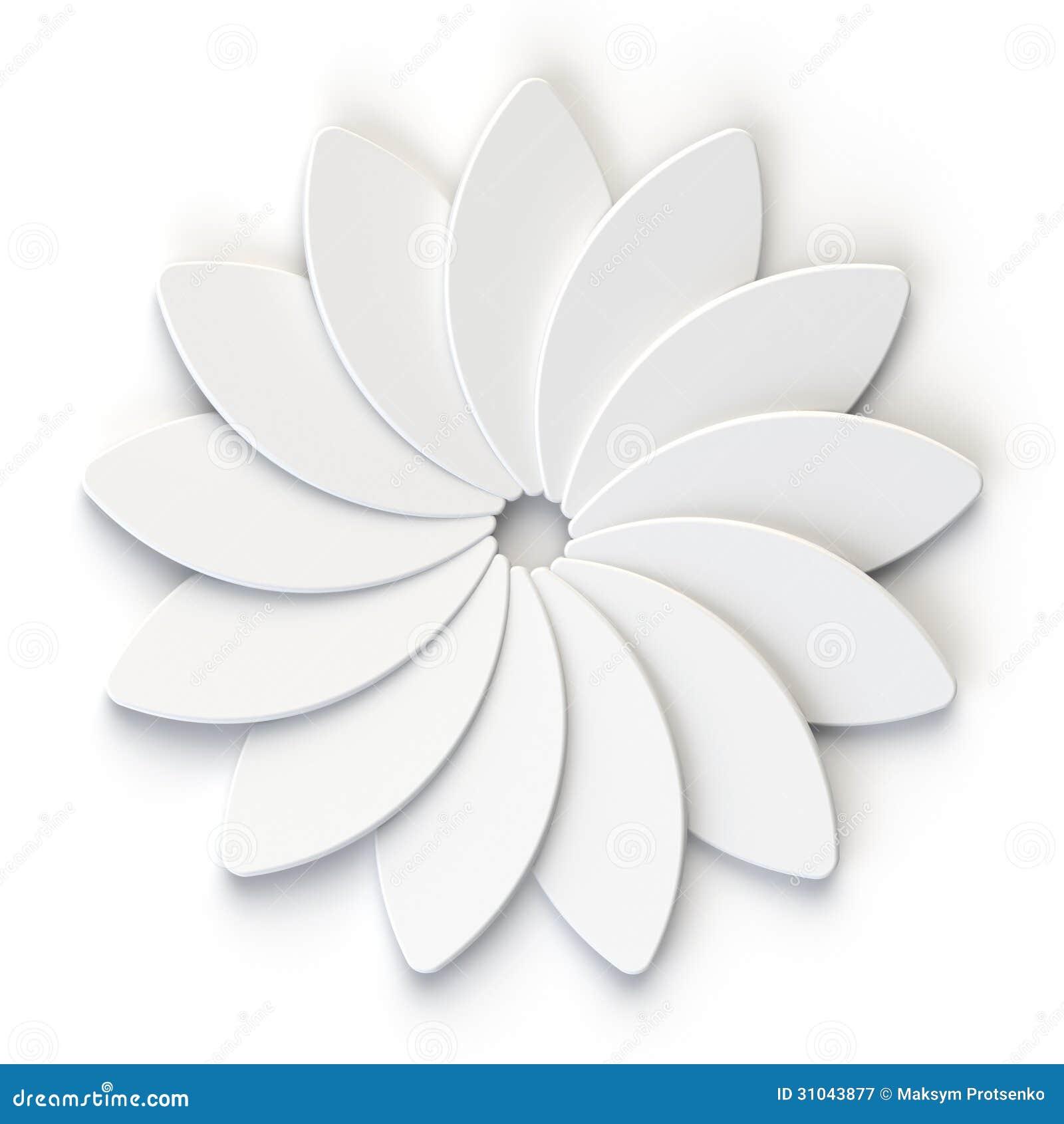 3d abstract white flower on white background royalty free for 3d white flower wallpaper