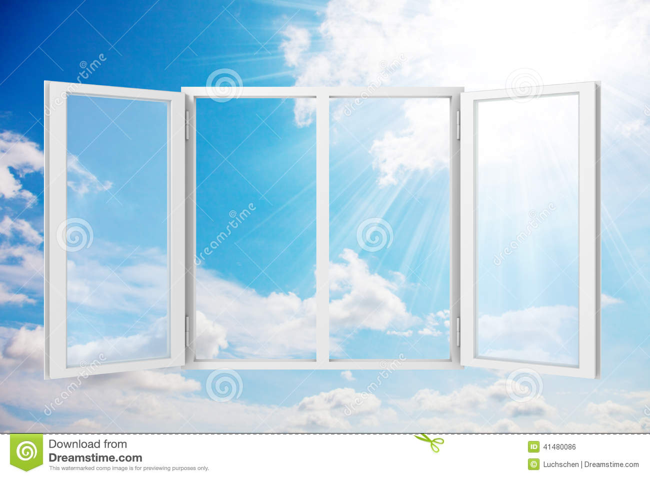 3d abstract window