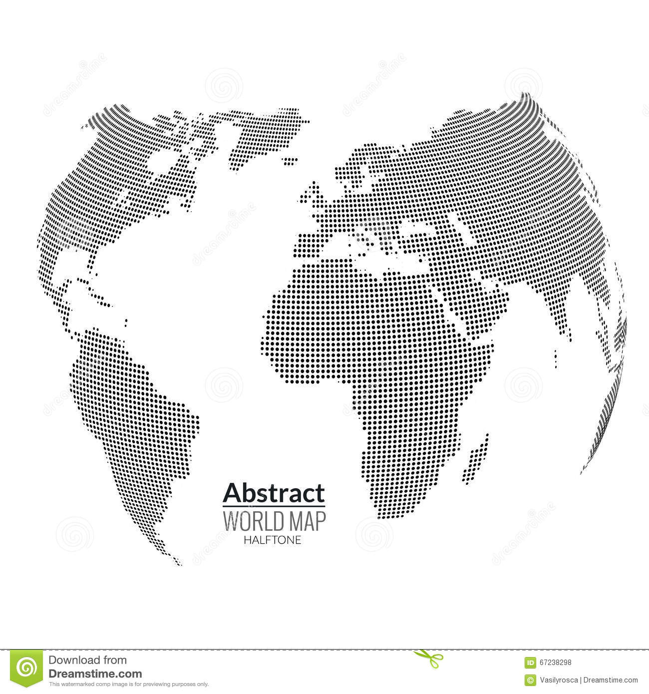3d abstract world map planet dots global halftone concept stock 3d abstract world map planet dots global halftone concept gumiabroncs Images