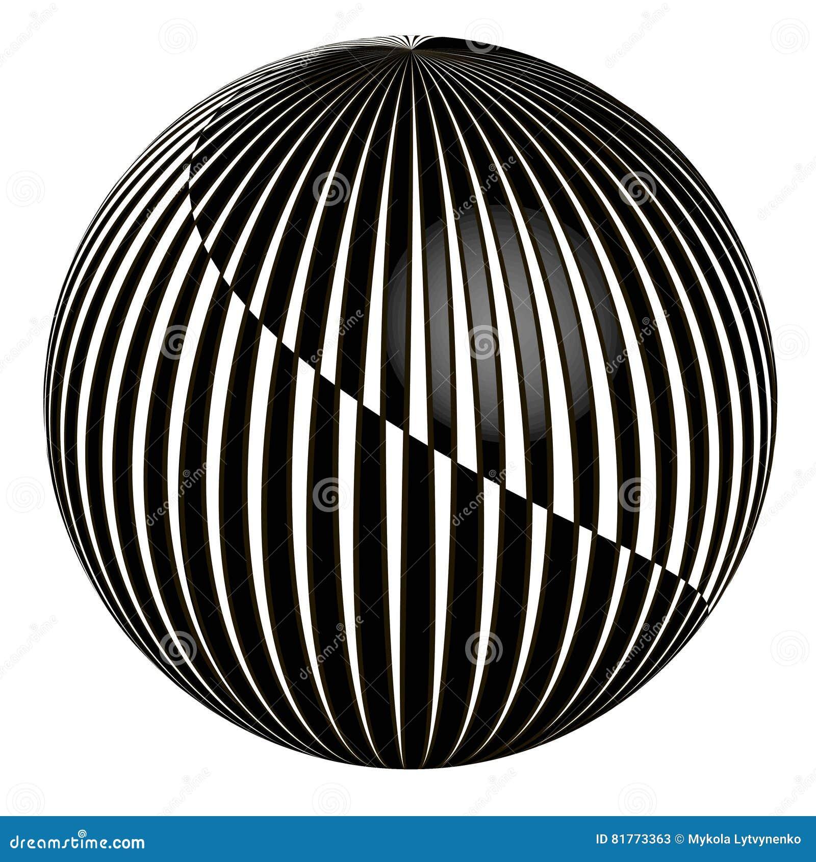 3D abstracte bal