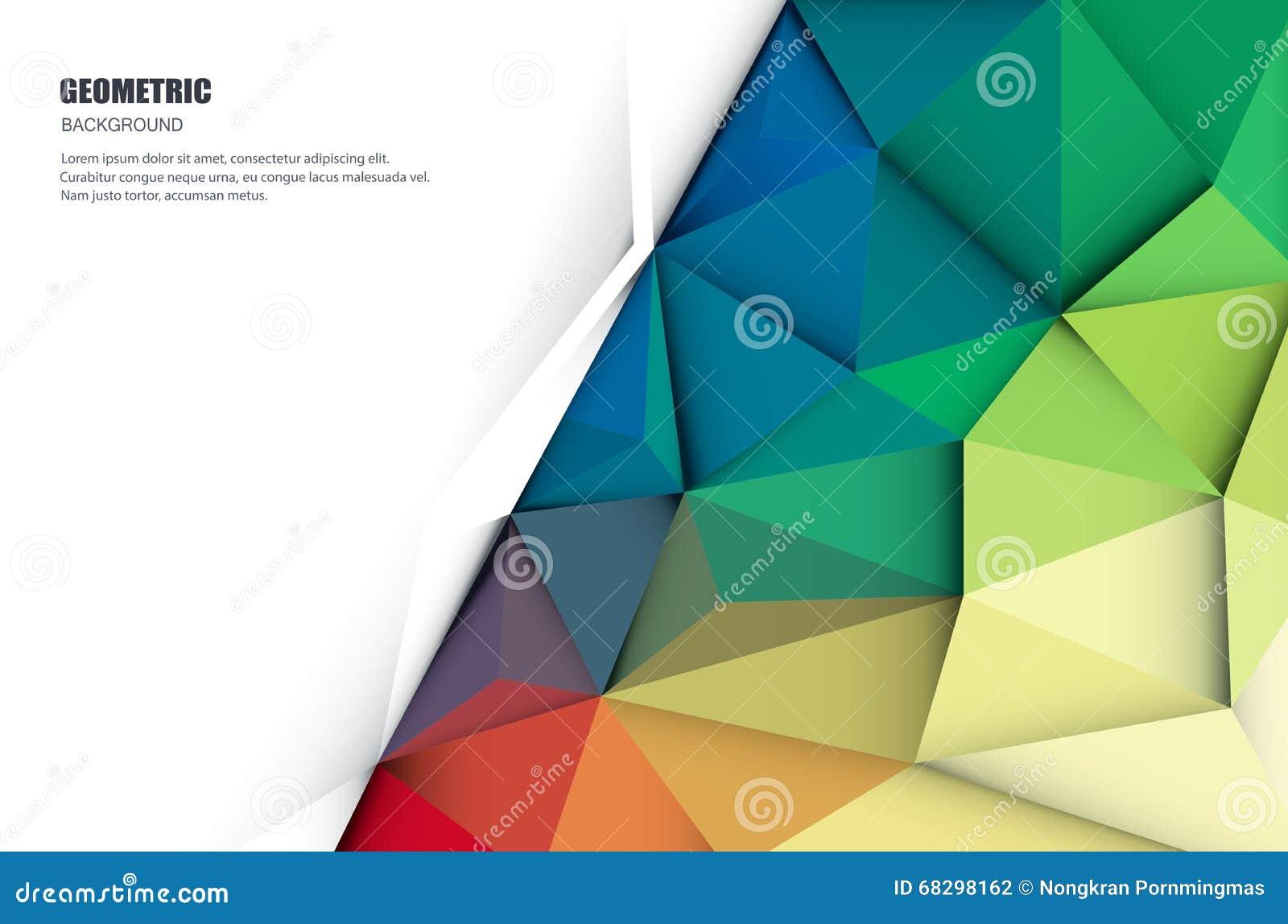 3D abstracto geométrico, poligonal, modelo del triángulo