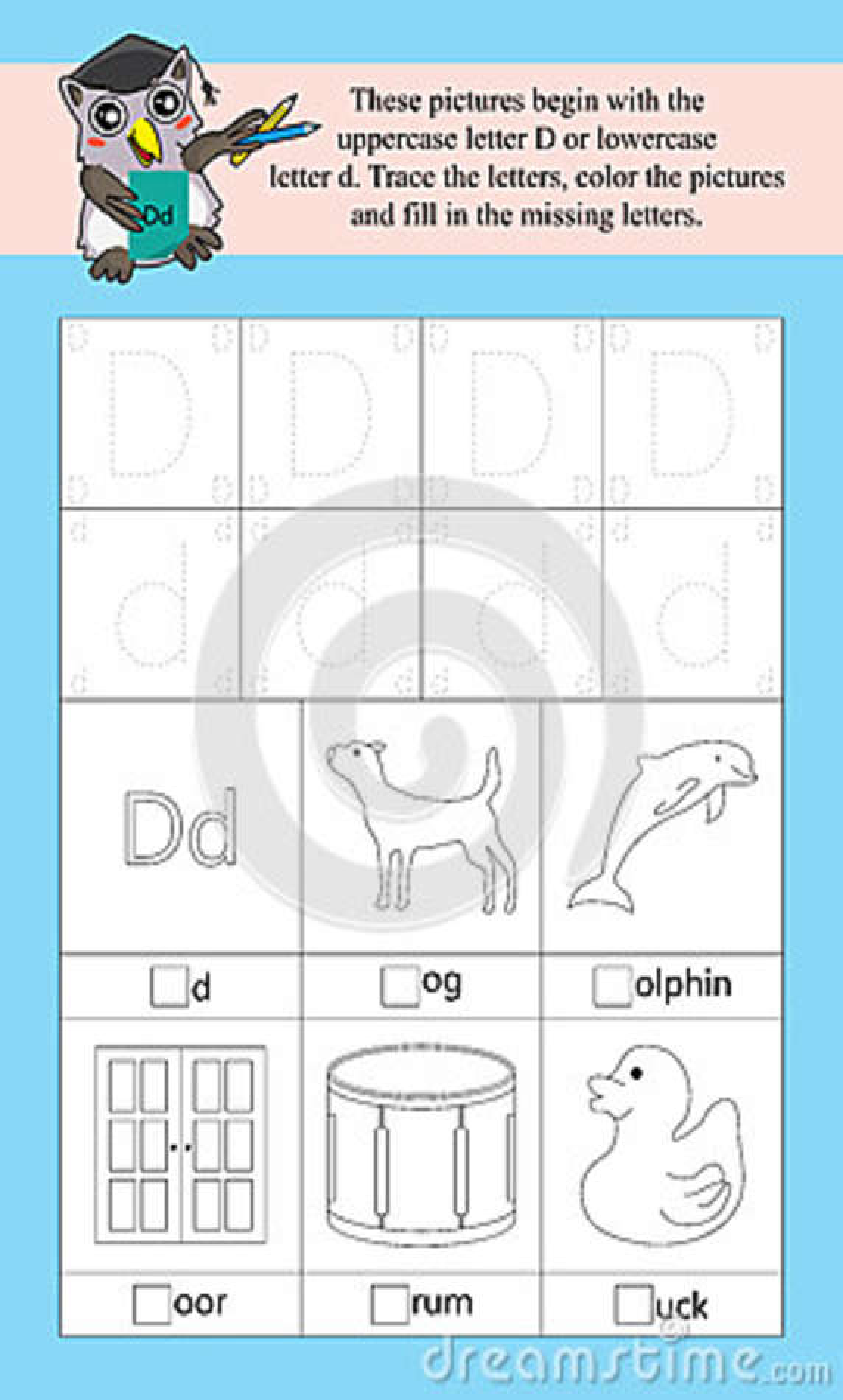 D Alphabet Template Stock Vector Illustration Of Capital 89516340