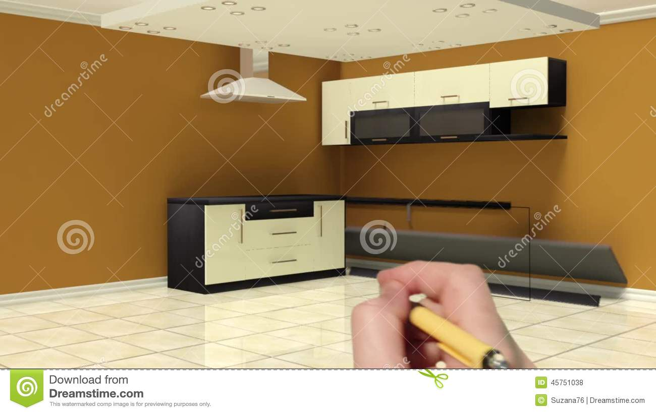 3d Animation Of Kitchen Stock Footage Video Of Living 45751038