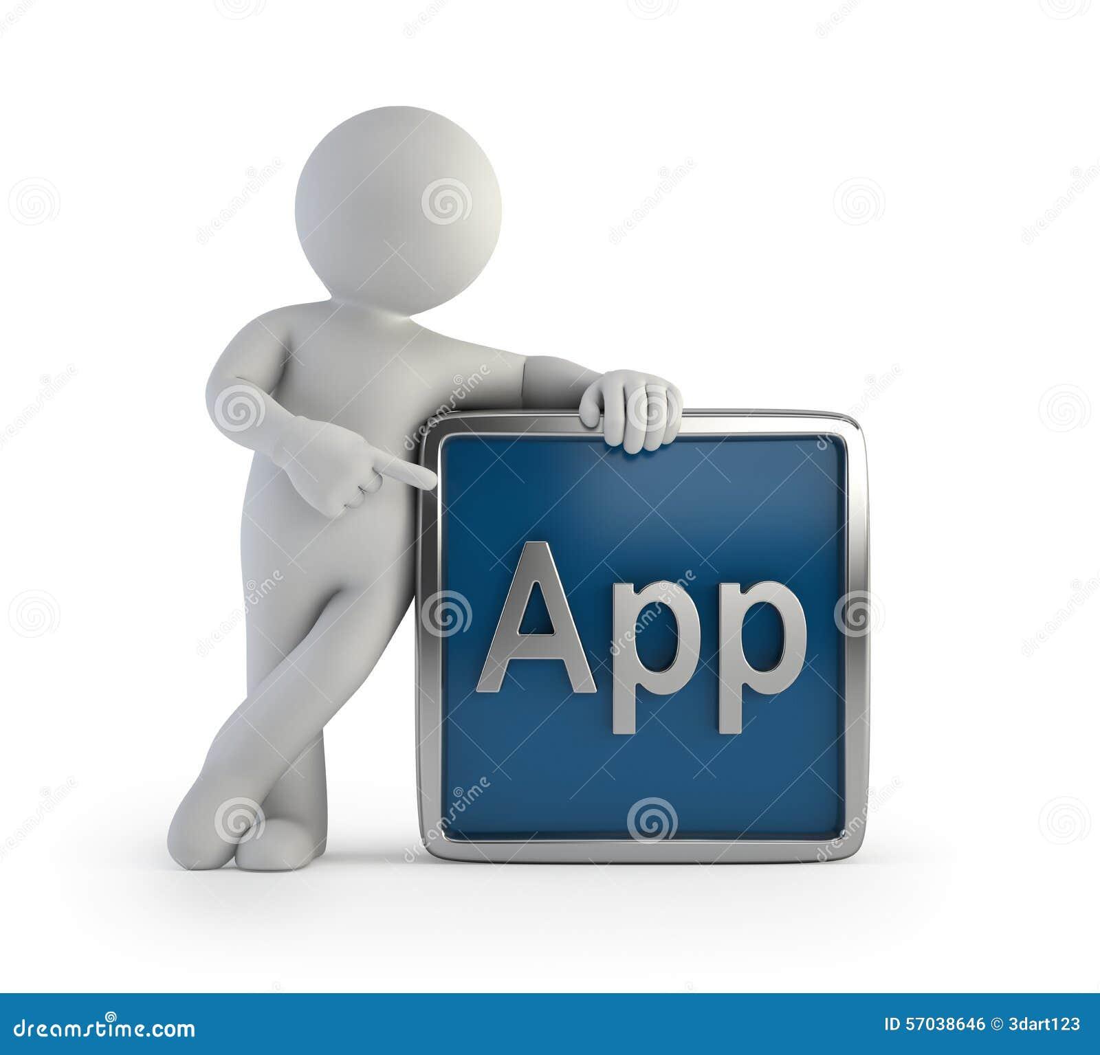 3d app ikony ludzie mali