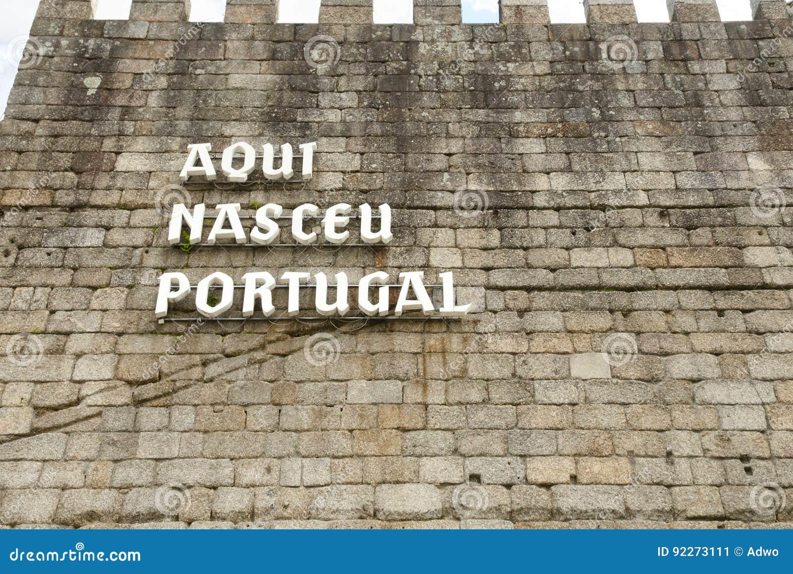 ` d Aqui Nasceu Portugal de ` - Guimaraes - Portugal