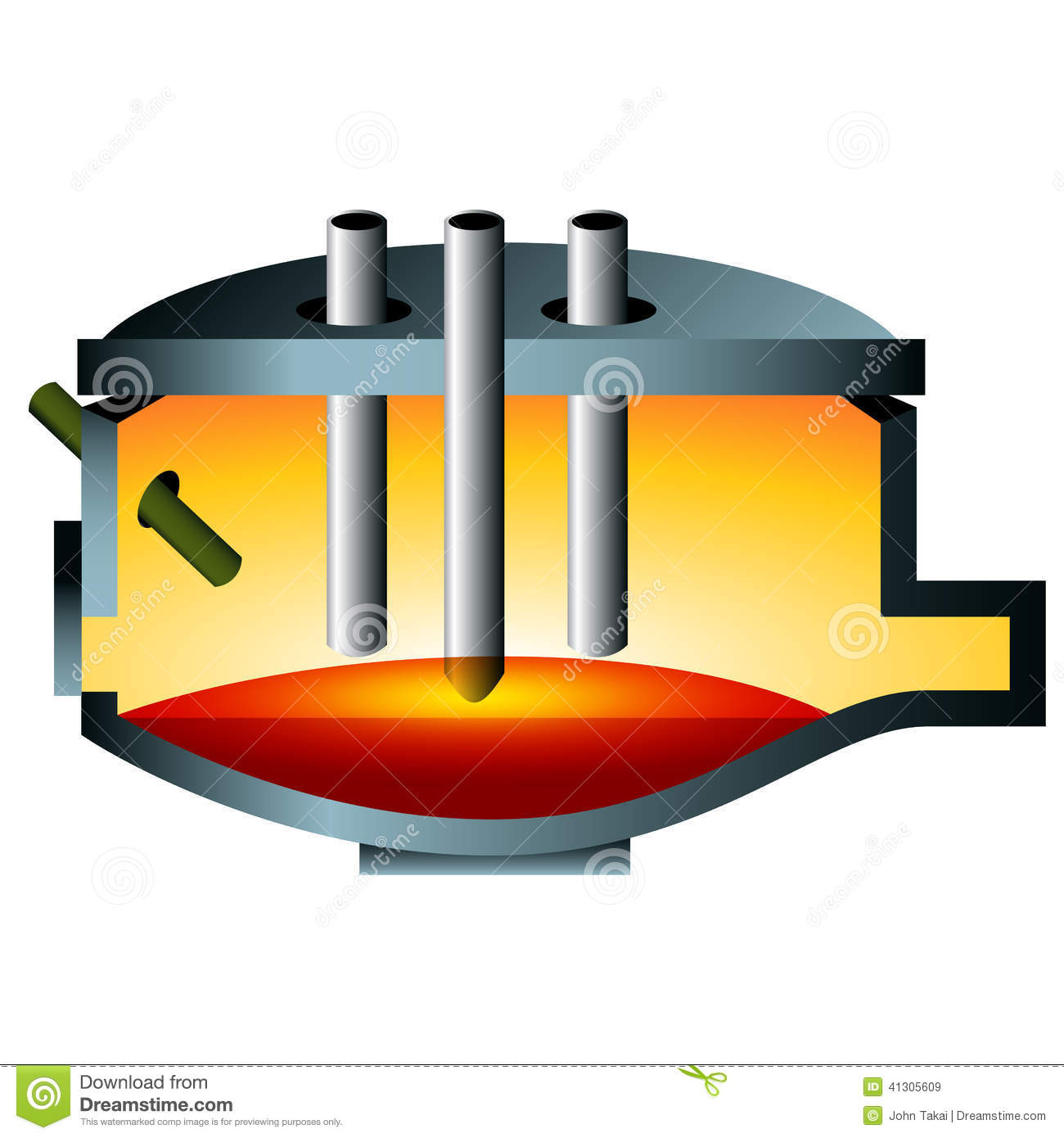 3d Arc Furnace Steel Icon Stock Vector Image 41305609