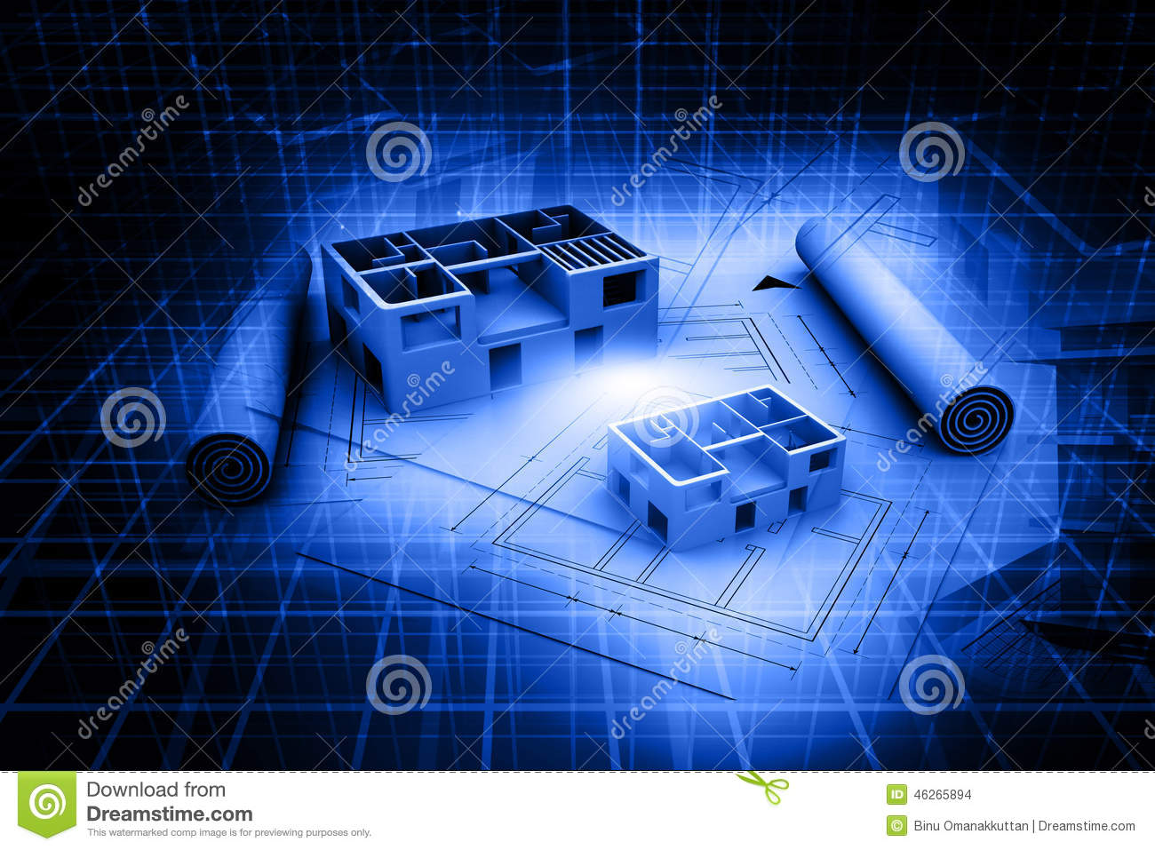 Architecture Blueprints 3d architecture abstract blueprint stock photos, images, & pictures