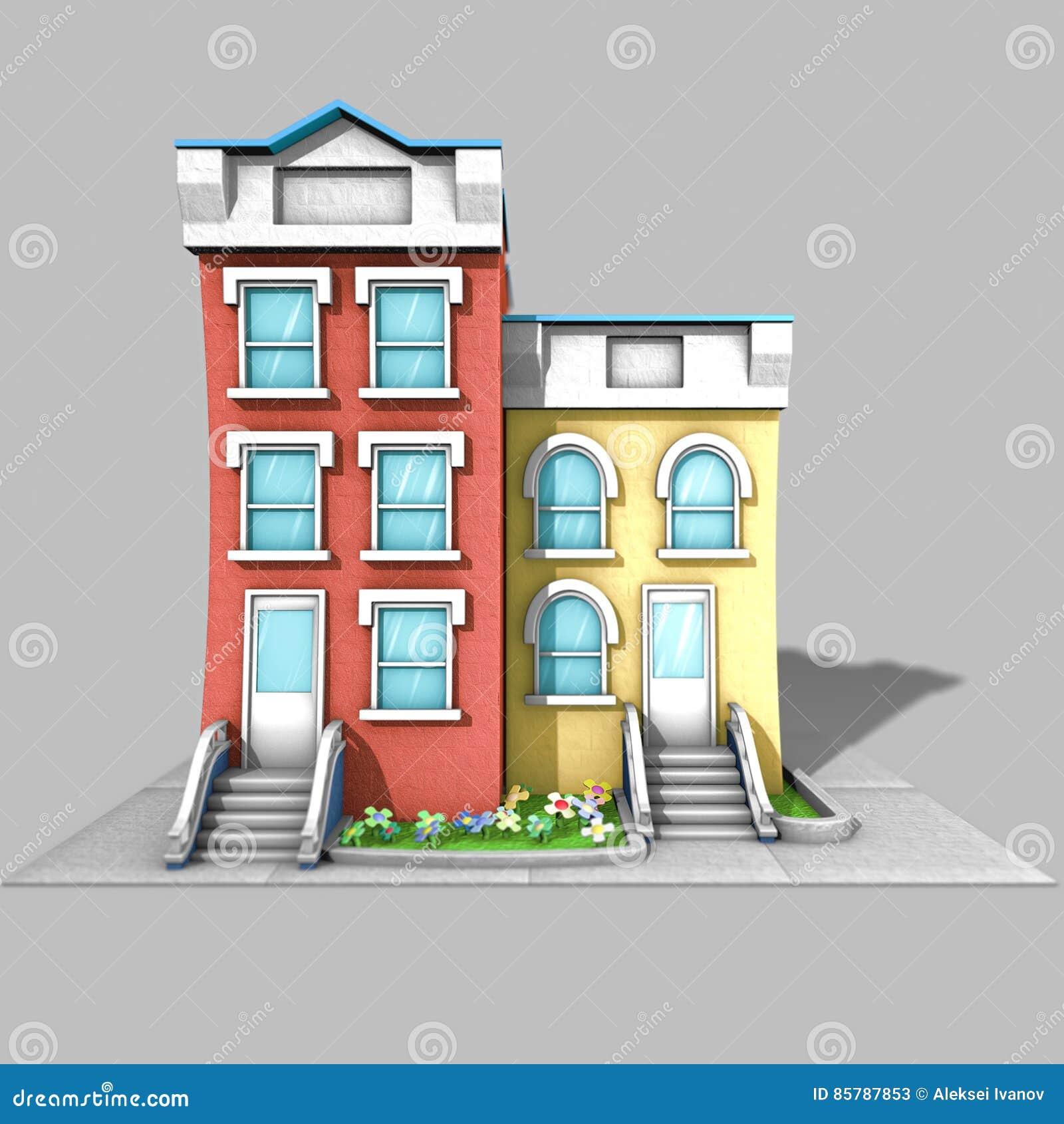 3D Architecture Model House Stock Illustration
