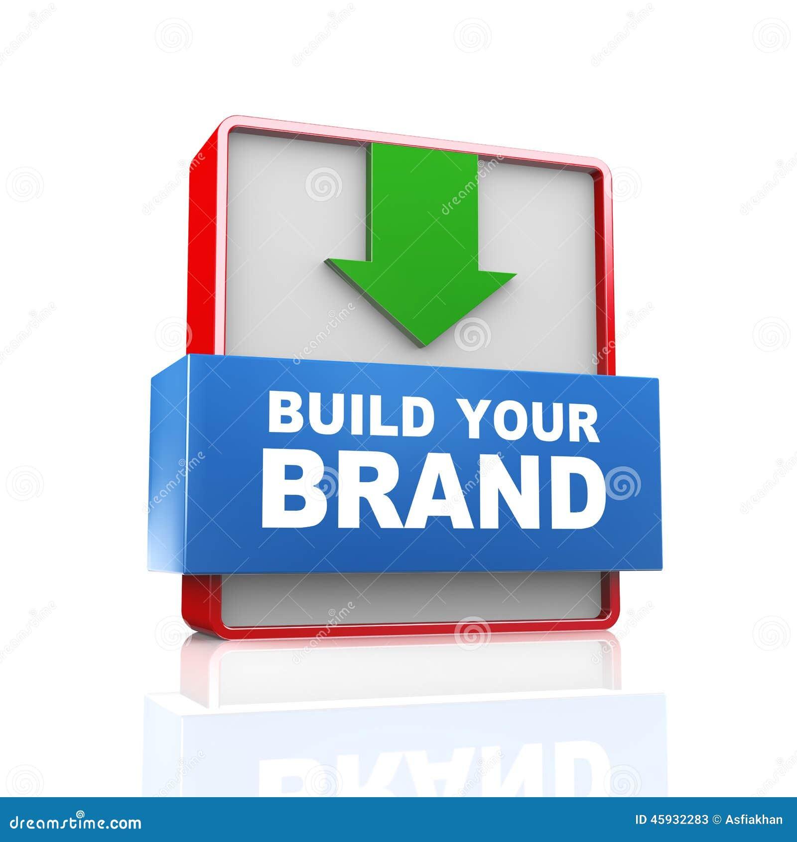 3d arrow text build your brand stock illustration image 45932283 3d arrow text build your brand