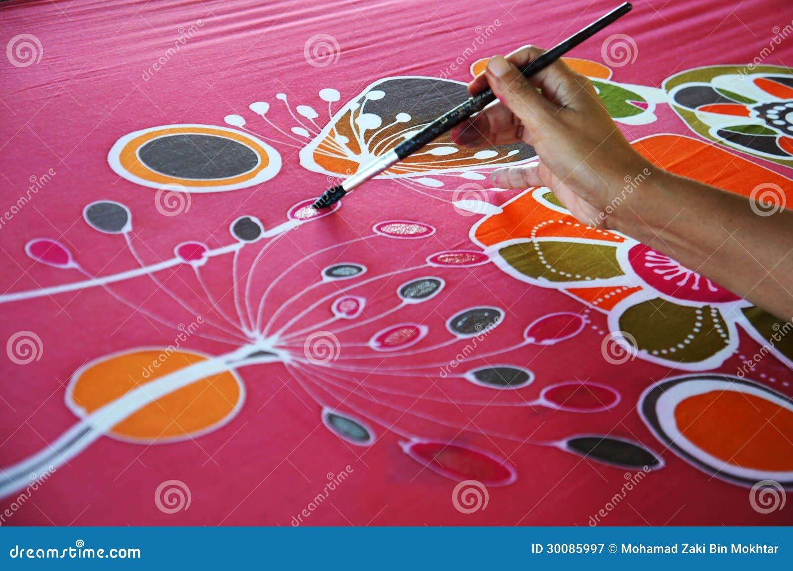 Peinture de batik image stock. Image du culture, batik - 30085997
