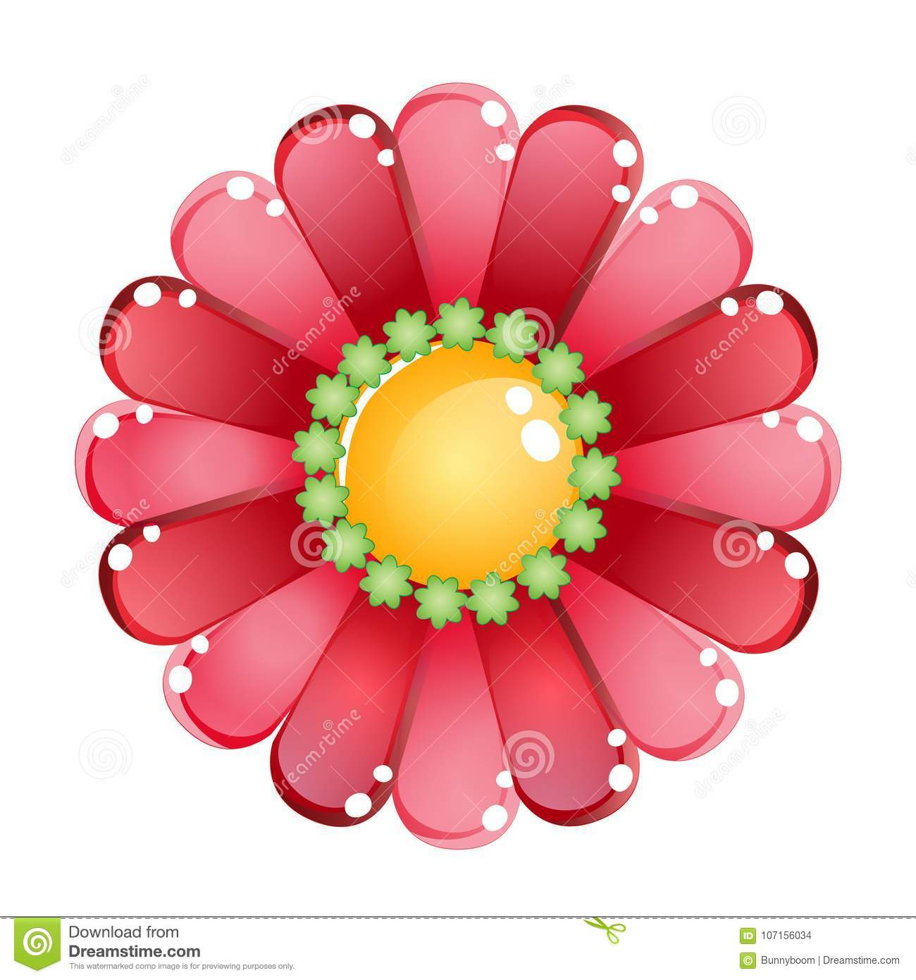 Flower Color Red Glossy Jelly Icon. Stock Vector - Illustration of ...