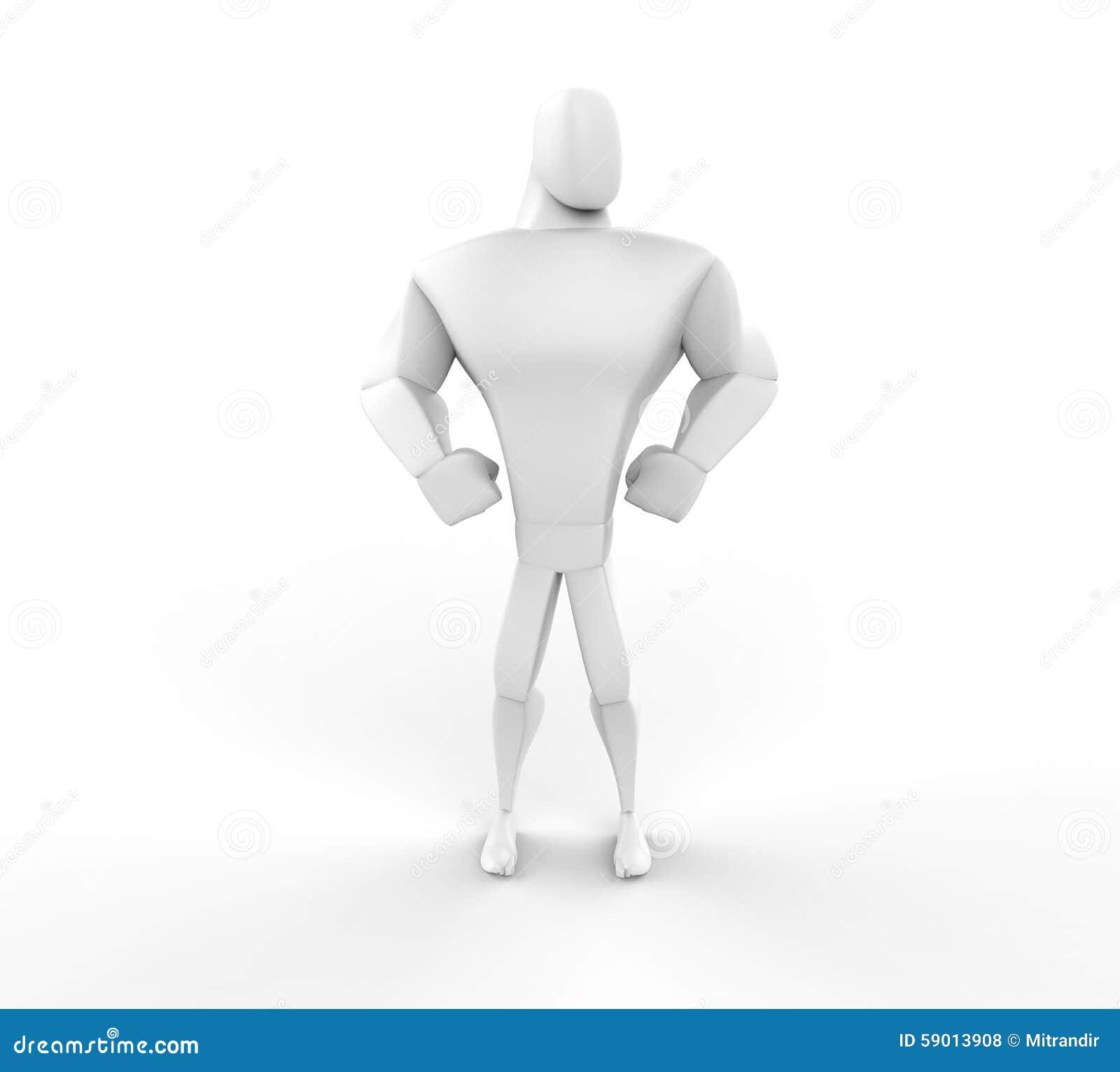 3D Atleet Hero Posing - vooraanzicht