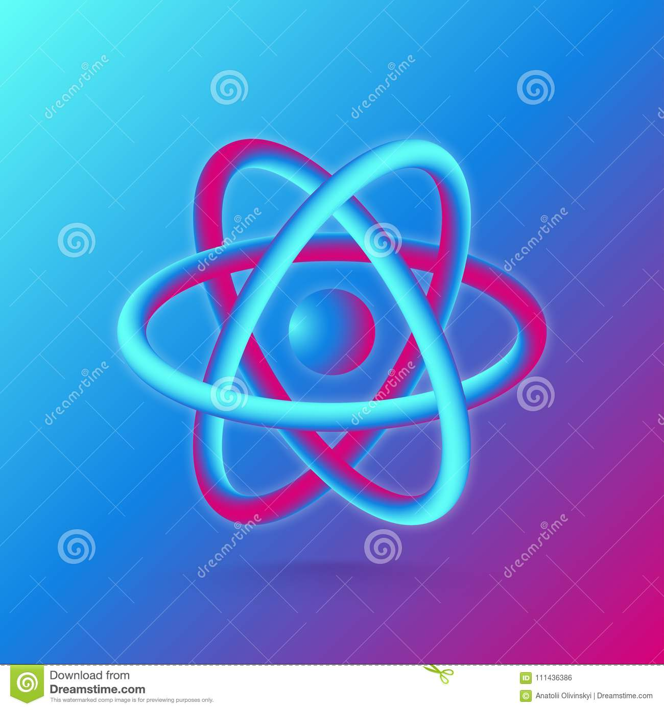 3d atom structure vector illustration stock vector illustration download 3d atom structure vector illustration stock vector illustration of design chemistry ccuart Images