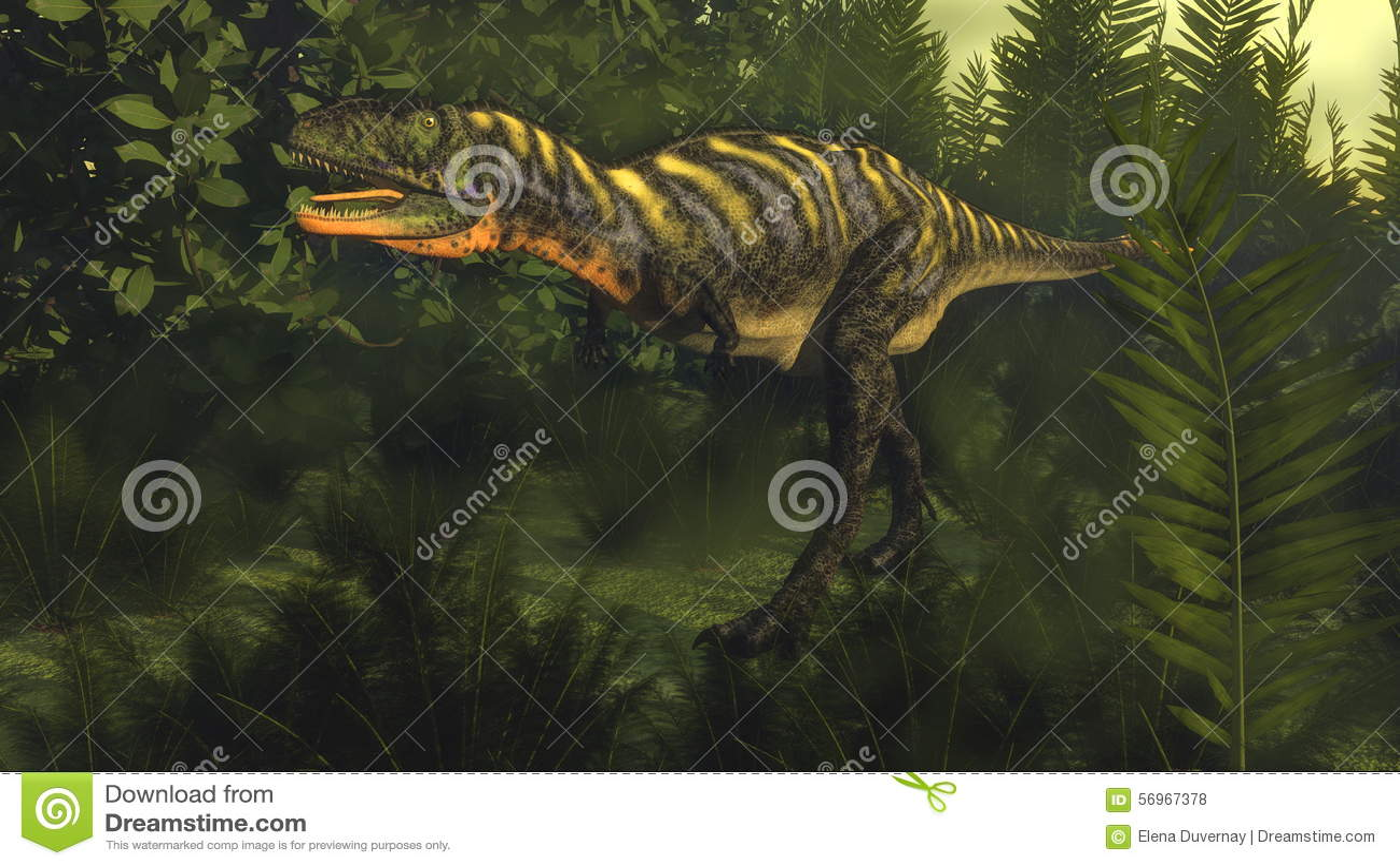 3D Aucasaurusdinosaurus - geef terug