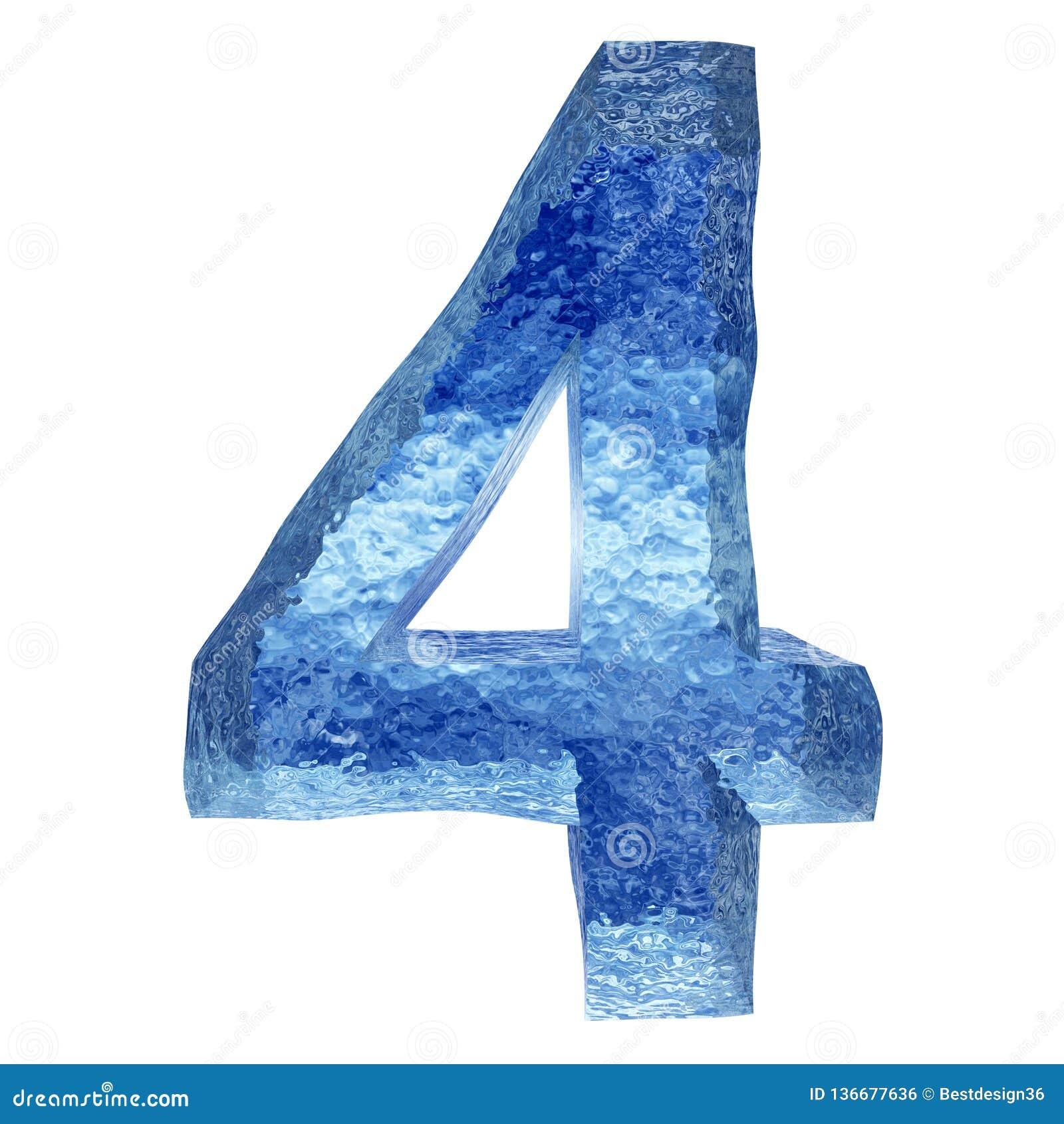 3D błękitne wody lub lodu chrzcielnica
