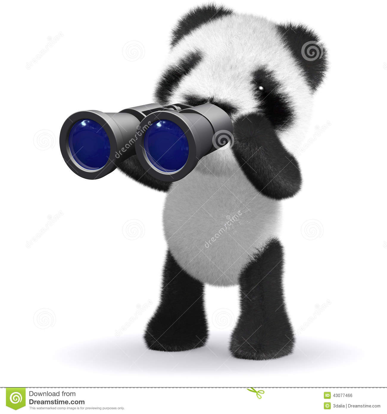 3d baby panda bear looking through binoculars stock audubon vector binoculars vector binoculars price