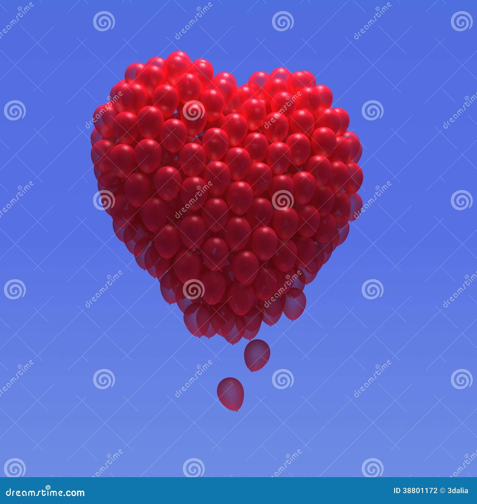 3d Balloon heart