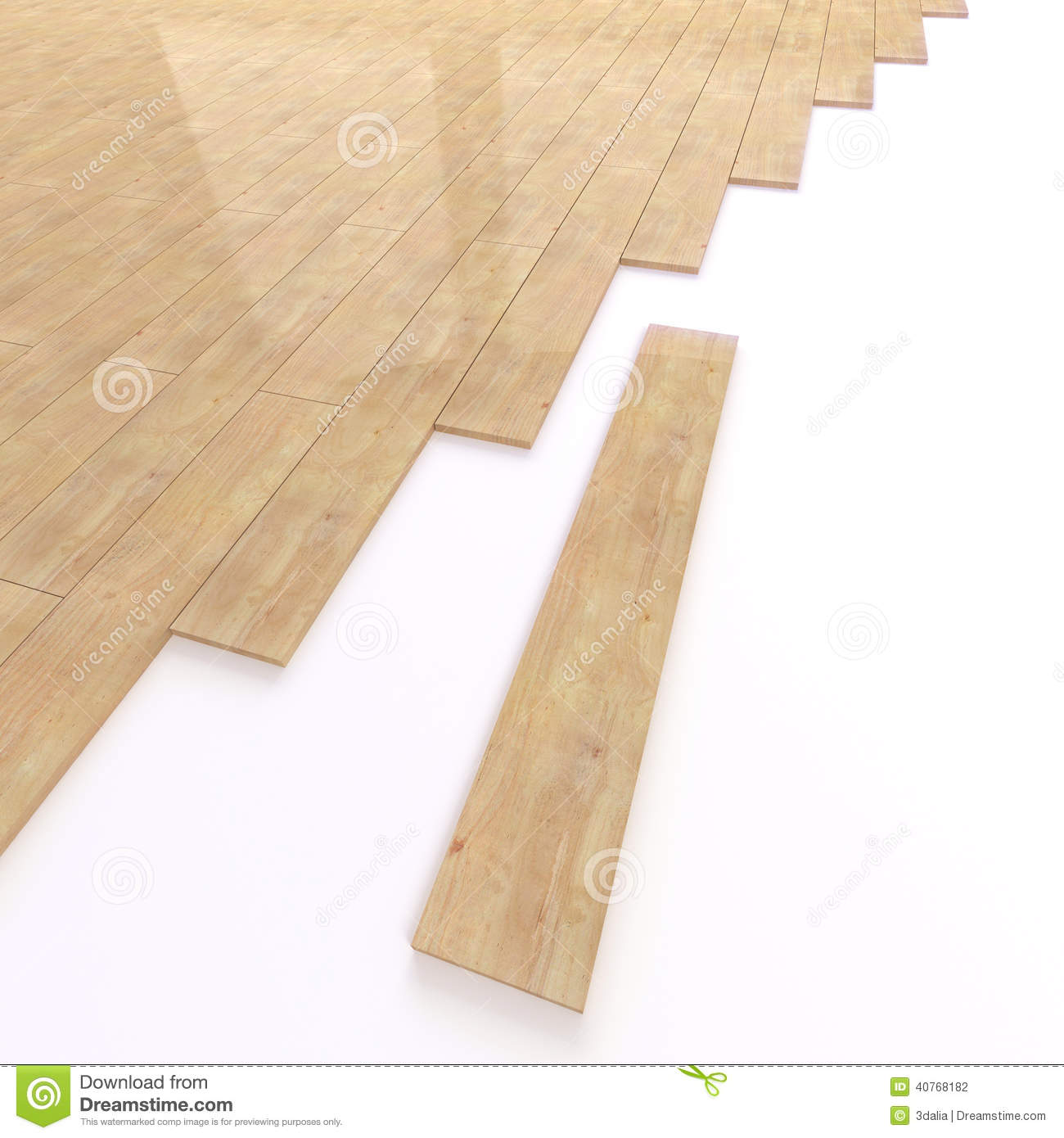 3d Bamboo Floor Tiles Stock Illustration Image 40768182