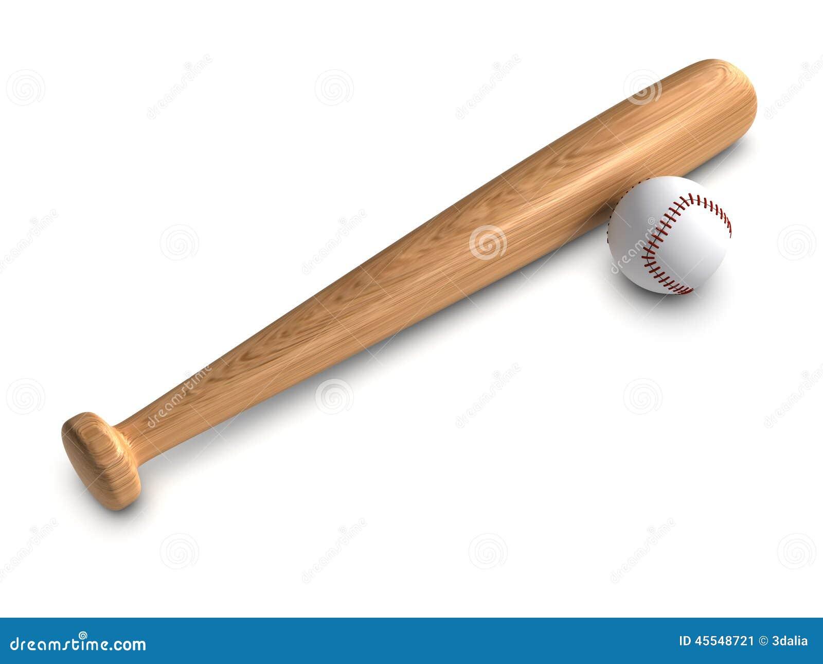 3d Baseball bat and ball stock illustration. Illustration ...