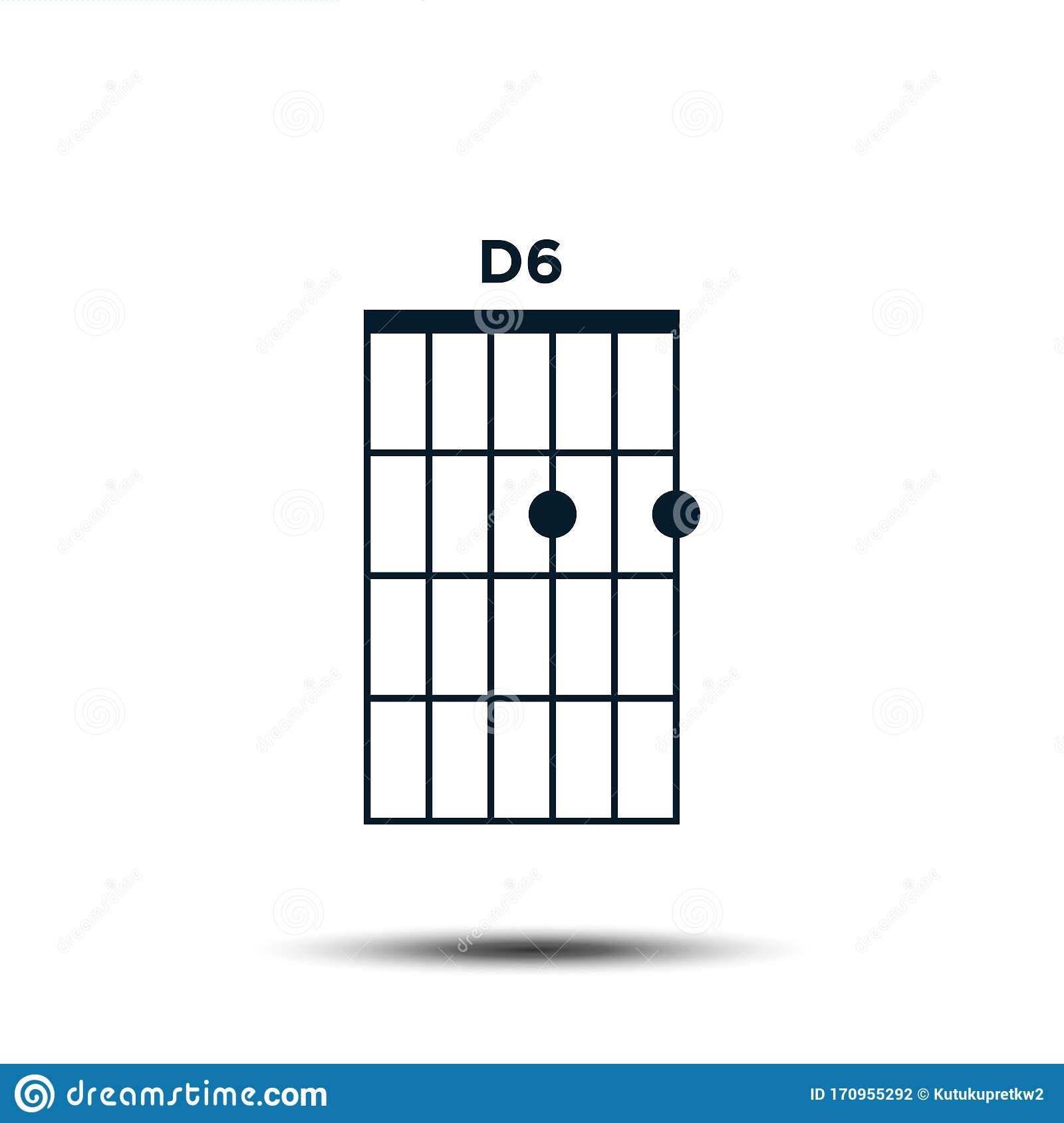 D15, Basic Guitar Chord Chart Icon Vector Template Stock Vector ...