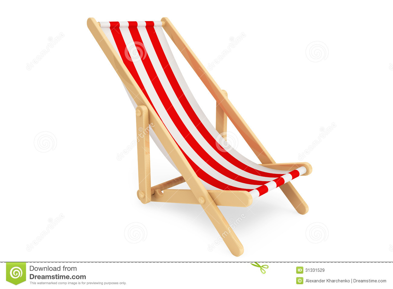 3d Beach Chair Royalty Free Stock Images - Image: 31331529