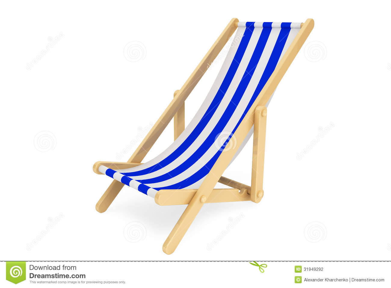 3d beach chair stock photography image 31949292. Black Bedroom Furniture Sets. Home Design Ideas