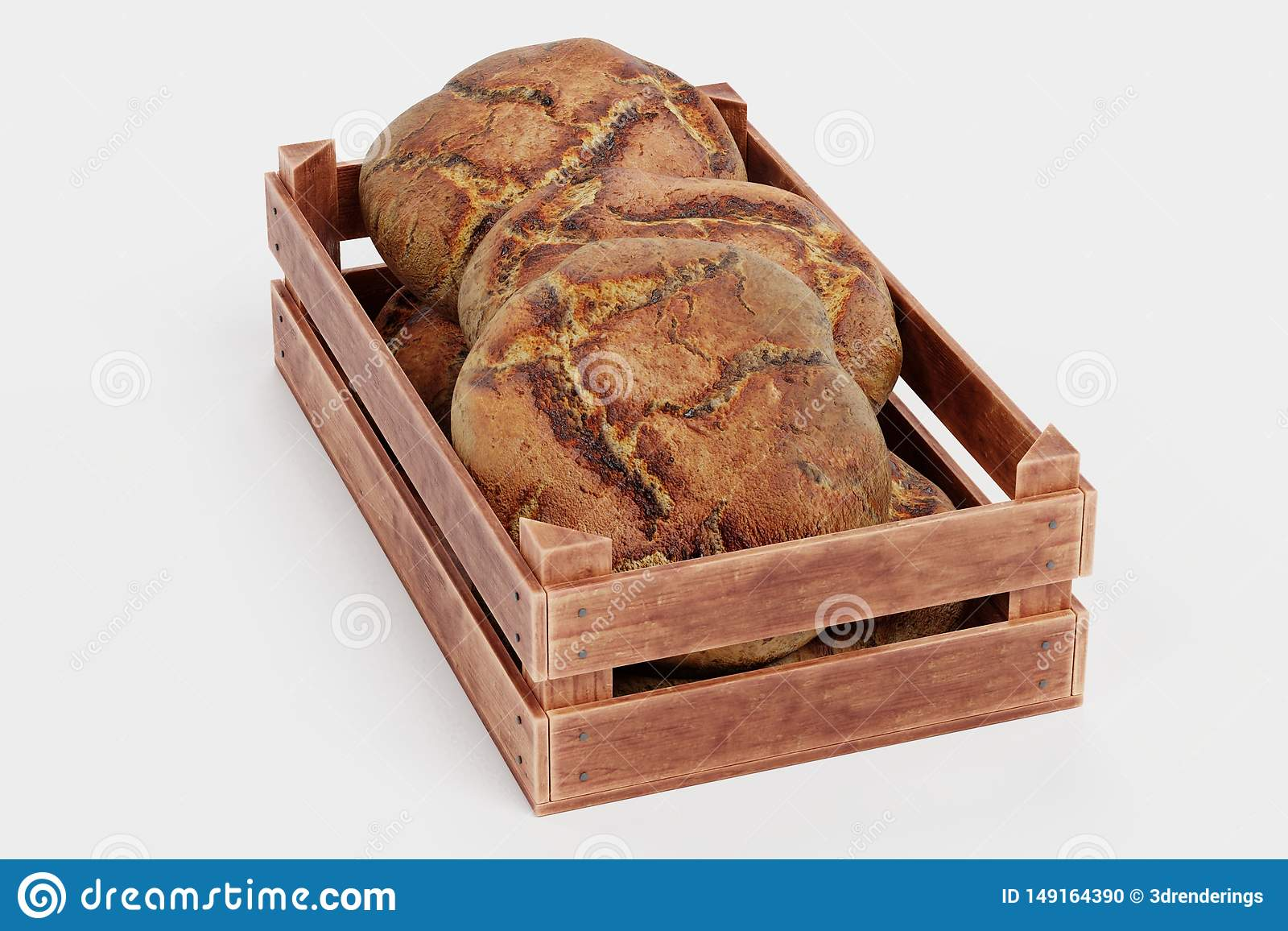 3d ?bertragen von den Broten im Kasten
