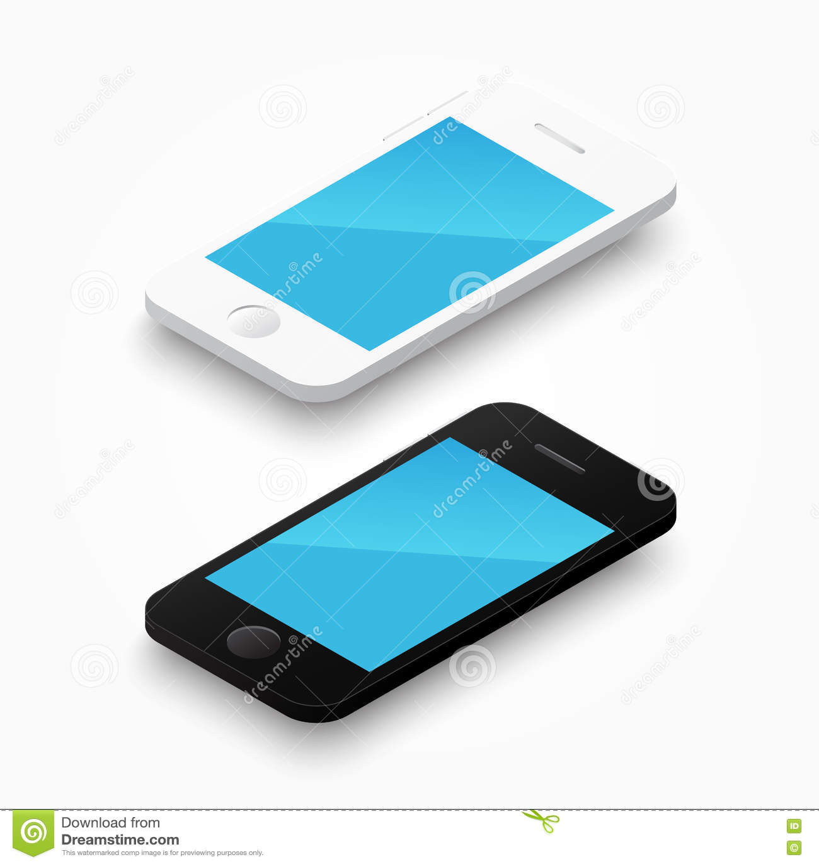 3D biały i czarny colour smartphone