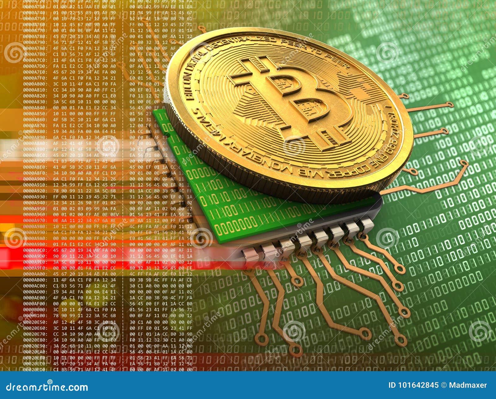 3d bitcoin met cpu-sinaasappel
