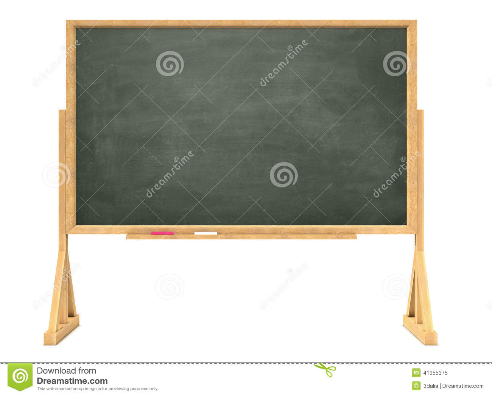 3d Blackboard na drewnianej ramie