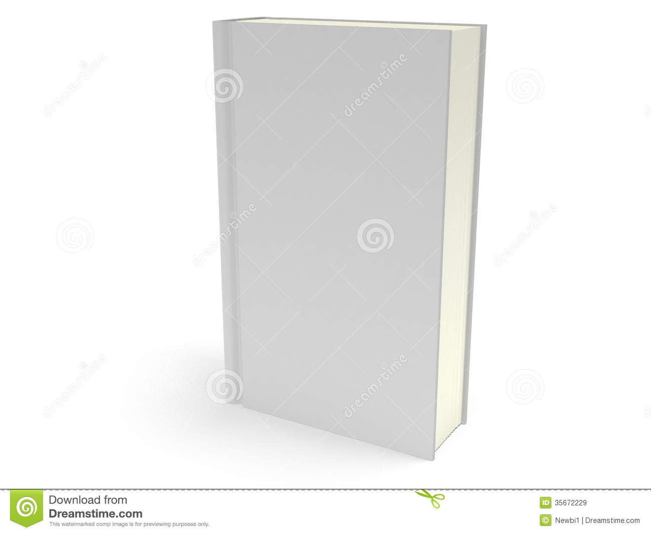Book Cover On White : D blank book cover over white background stock