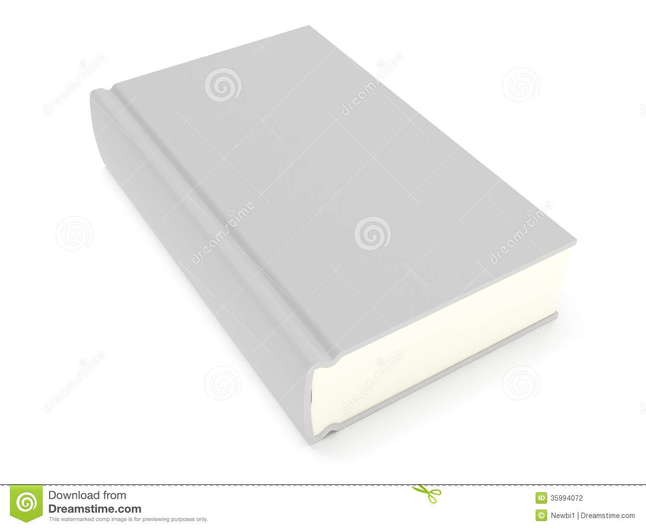 Book Cover White Background : D blank book cover over white background stock