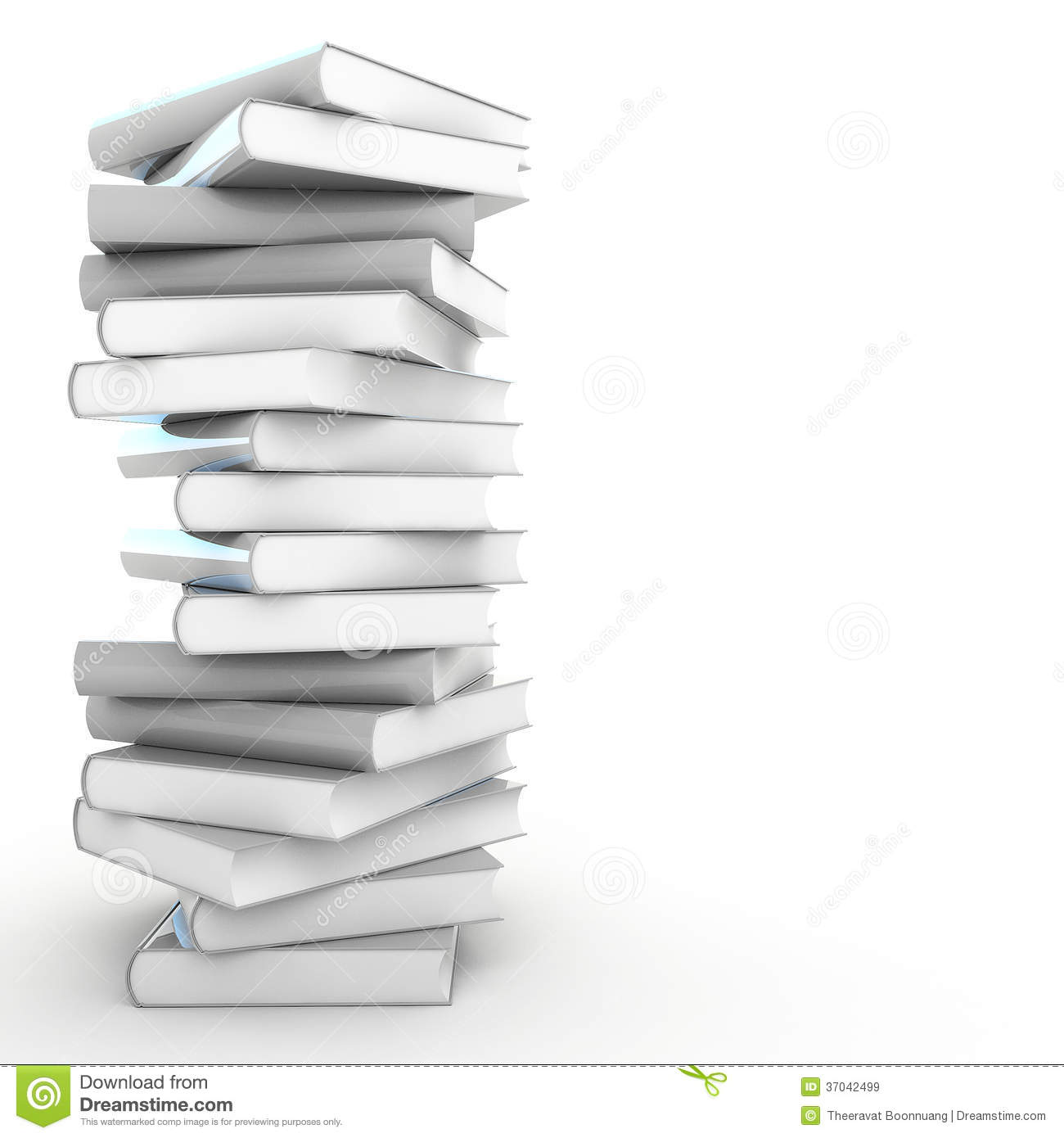 Book Cover White Background ~ D blank book royalty free stock images image