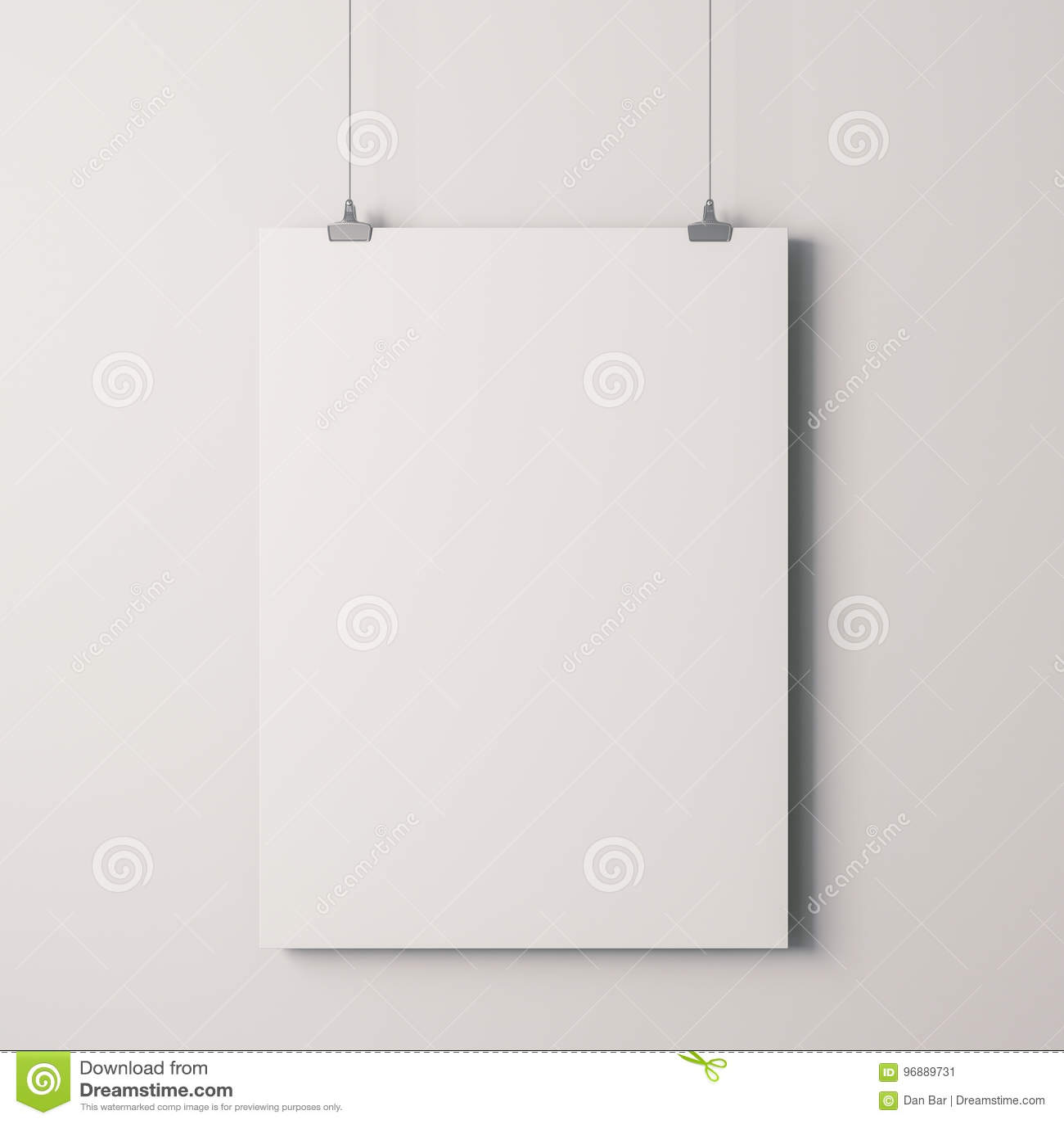c105da66a2d 3d blank frame poster on white wall. More similar stock illustrations