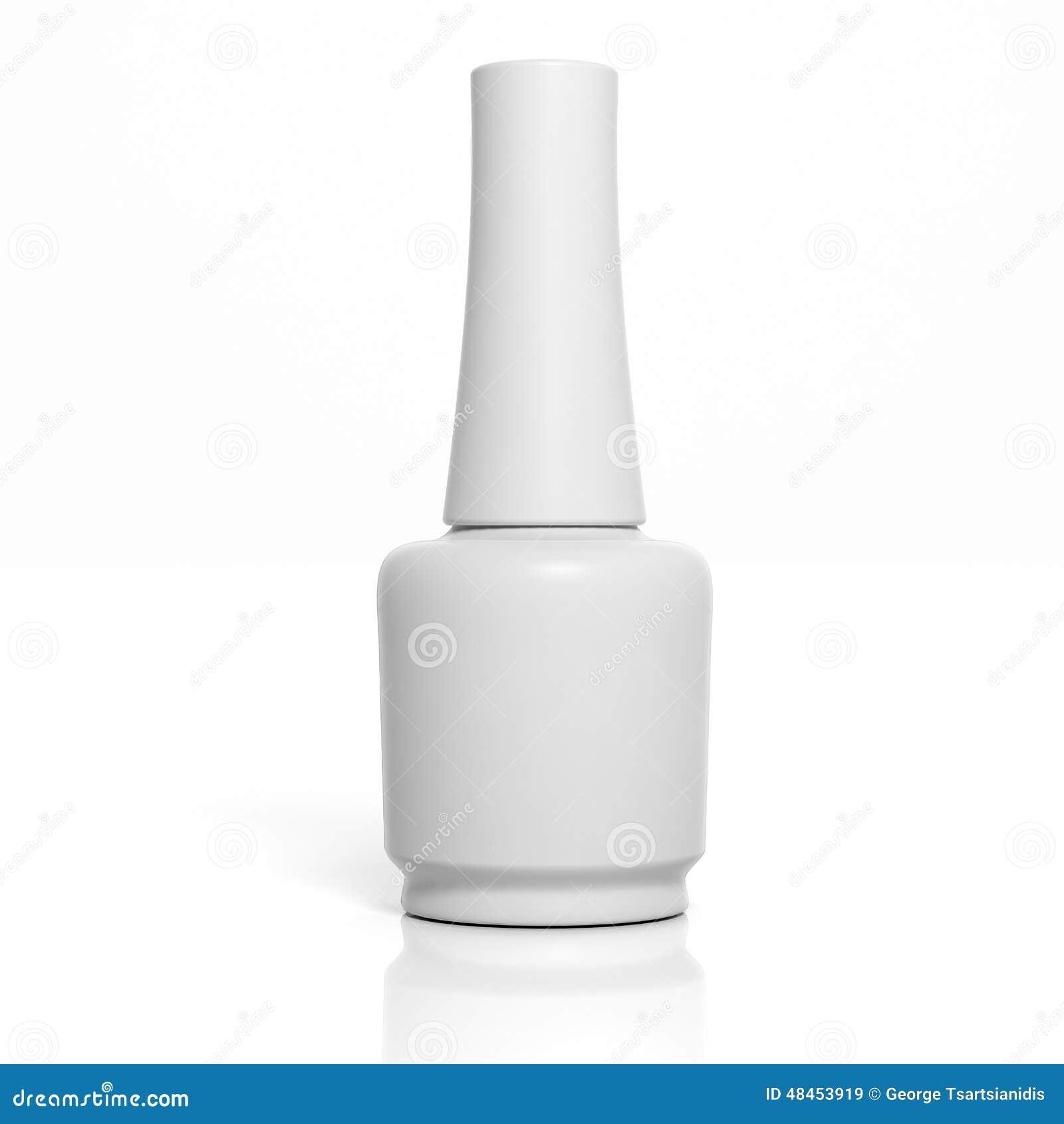 3D Blank Nail Polish Bottle Stock Illustration - Image ...