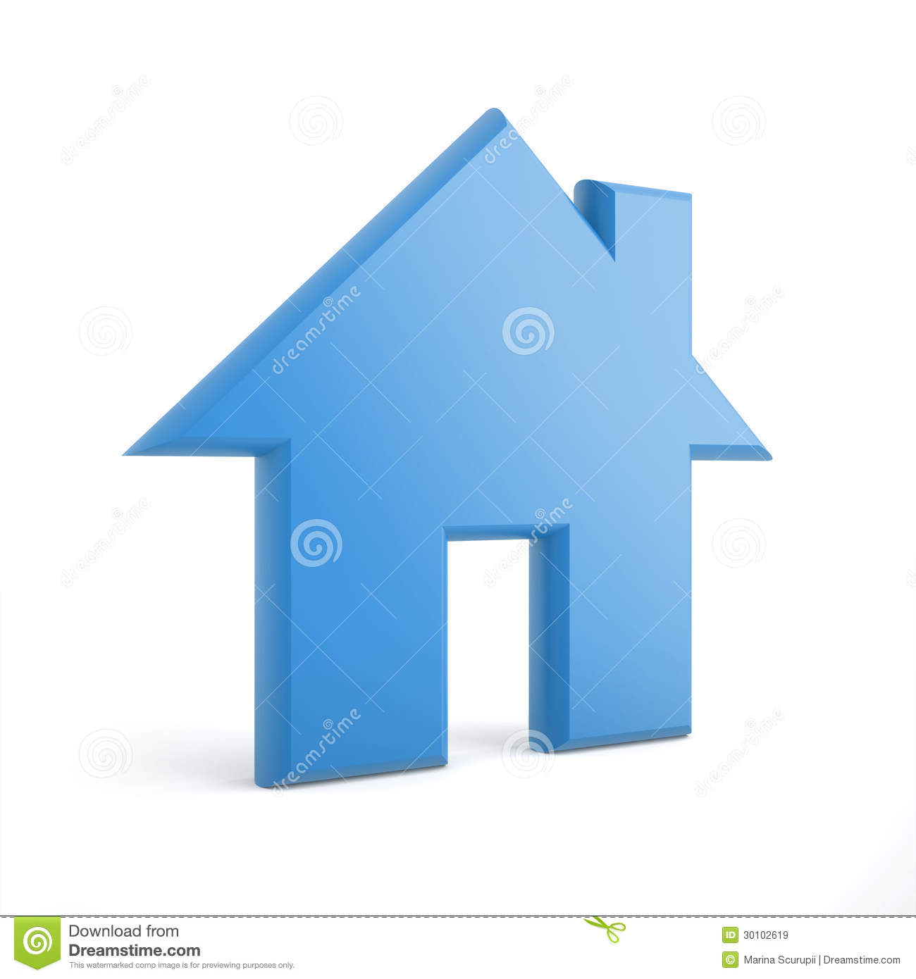 3d blue home icon