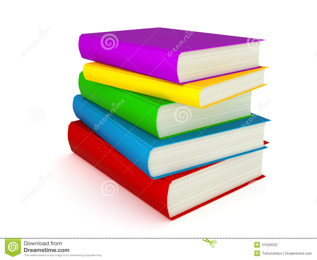 3D Books Stock Photography - Image: 31029042