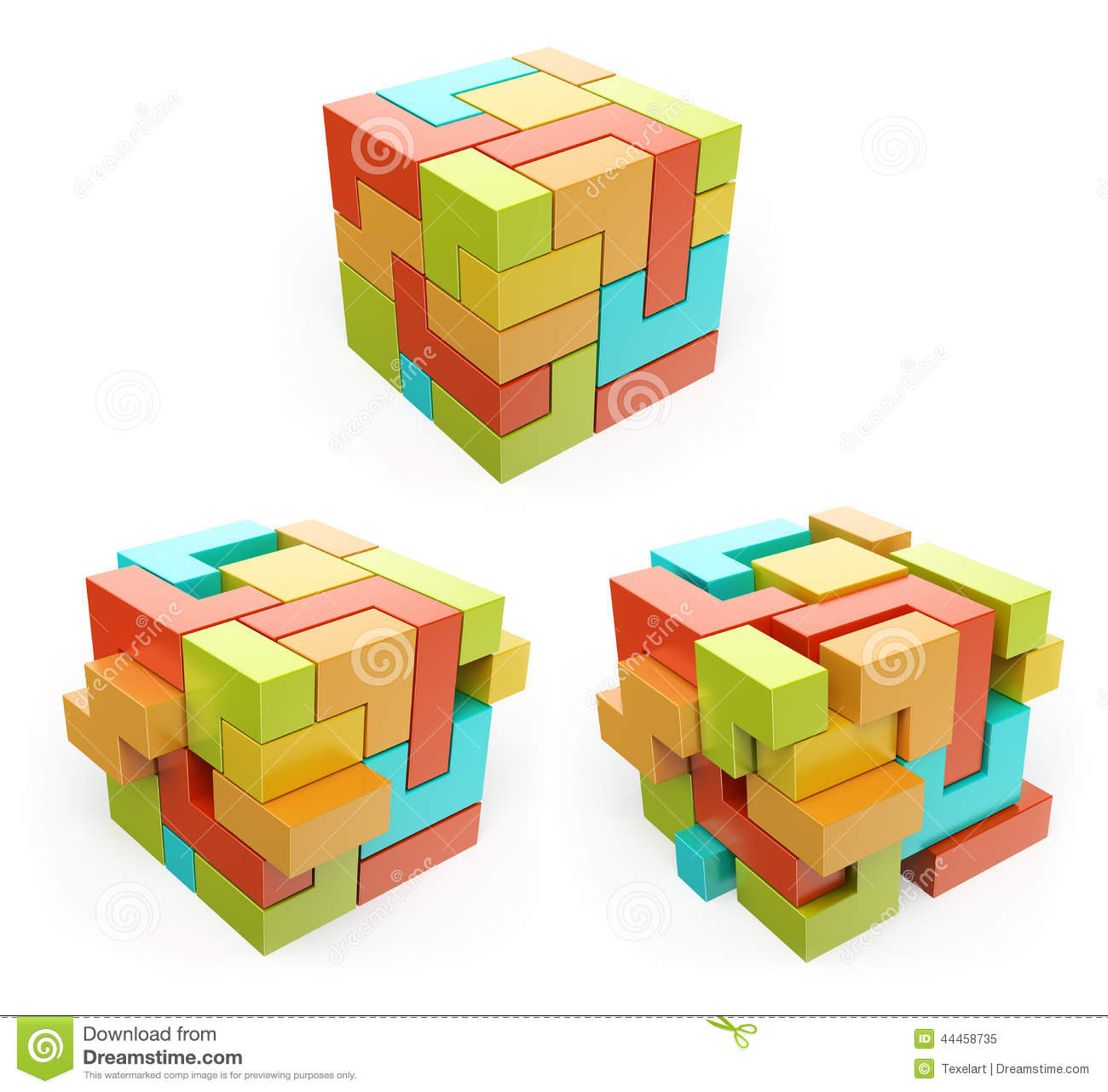 3d box cube create concept stock illustration image for 3d building creator