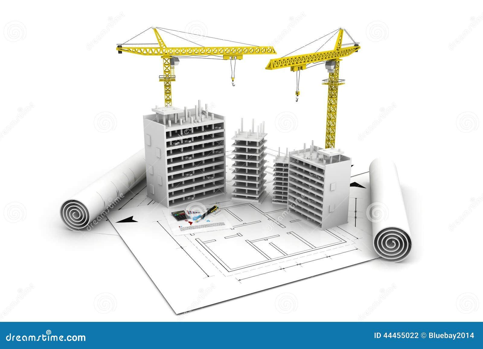 3d building block in construction stock illustration for Construction 3d
