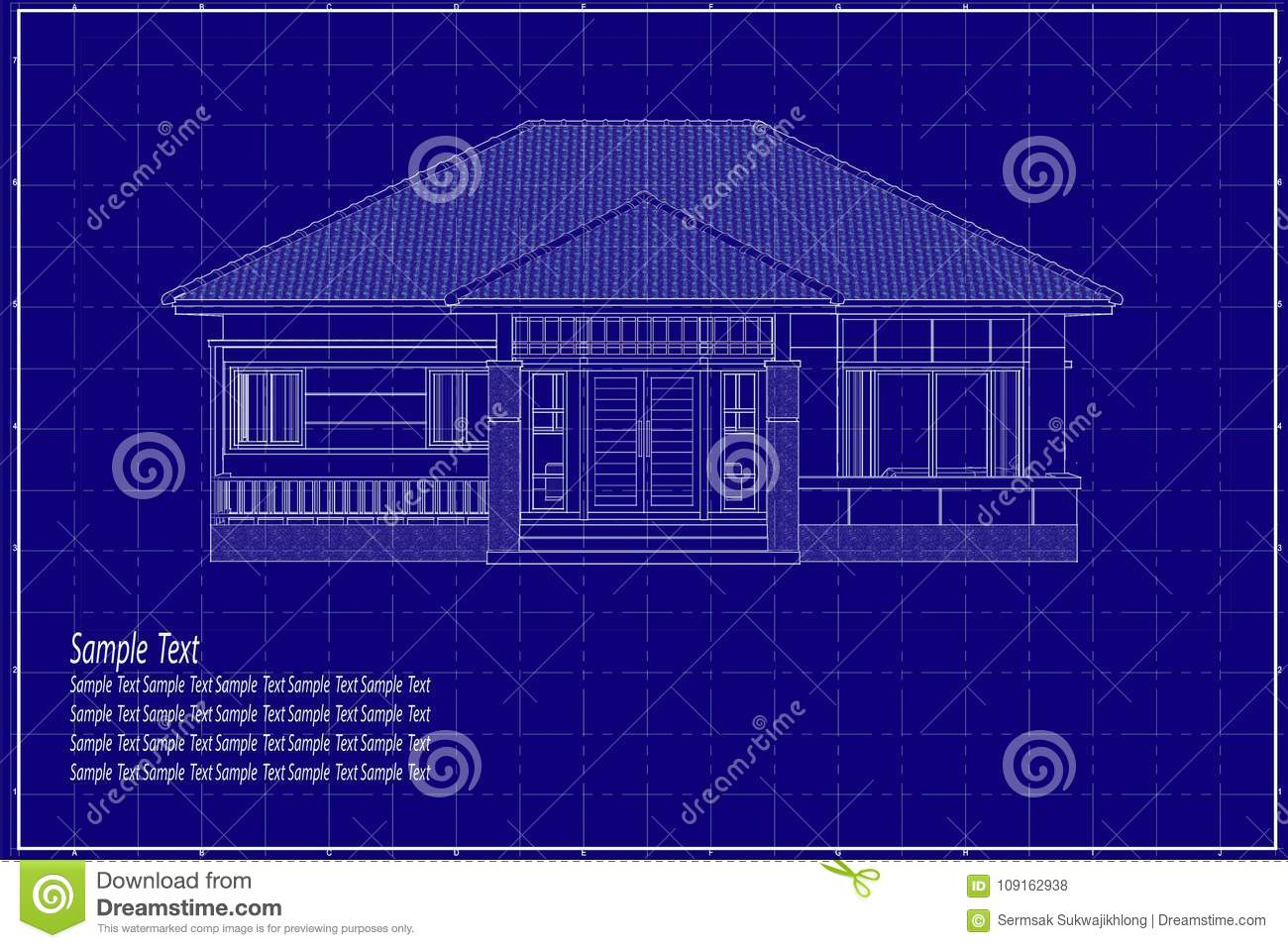 3d building on blueprint stock photo image of factory 109162938 download 3d building on blueprint stock photo image of factory 109162938 malvernweather Image collections