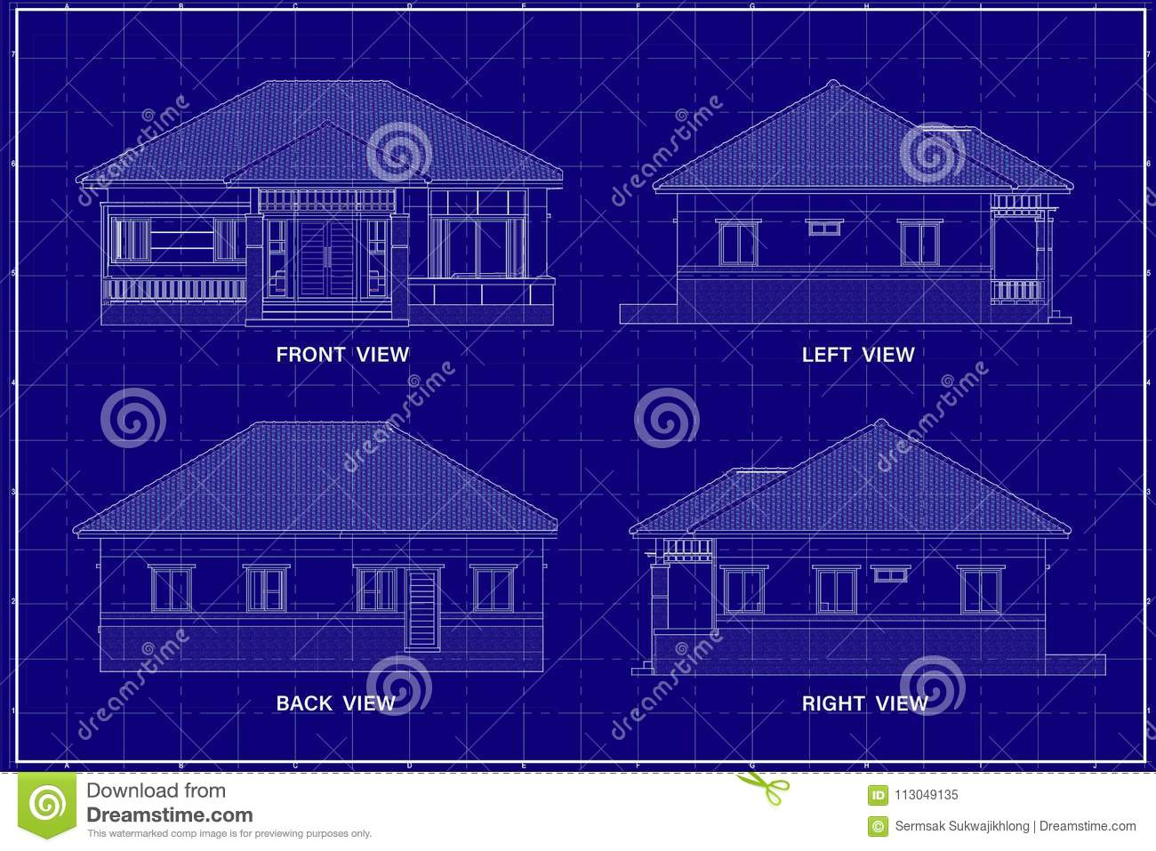 3d building on blueprint stock illustration illustration of download 3d building on blueprint stock illustration illustration of warehouse 113049135 malvernweather Image collections