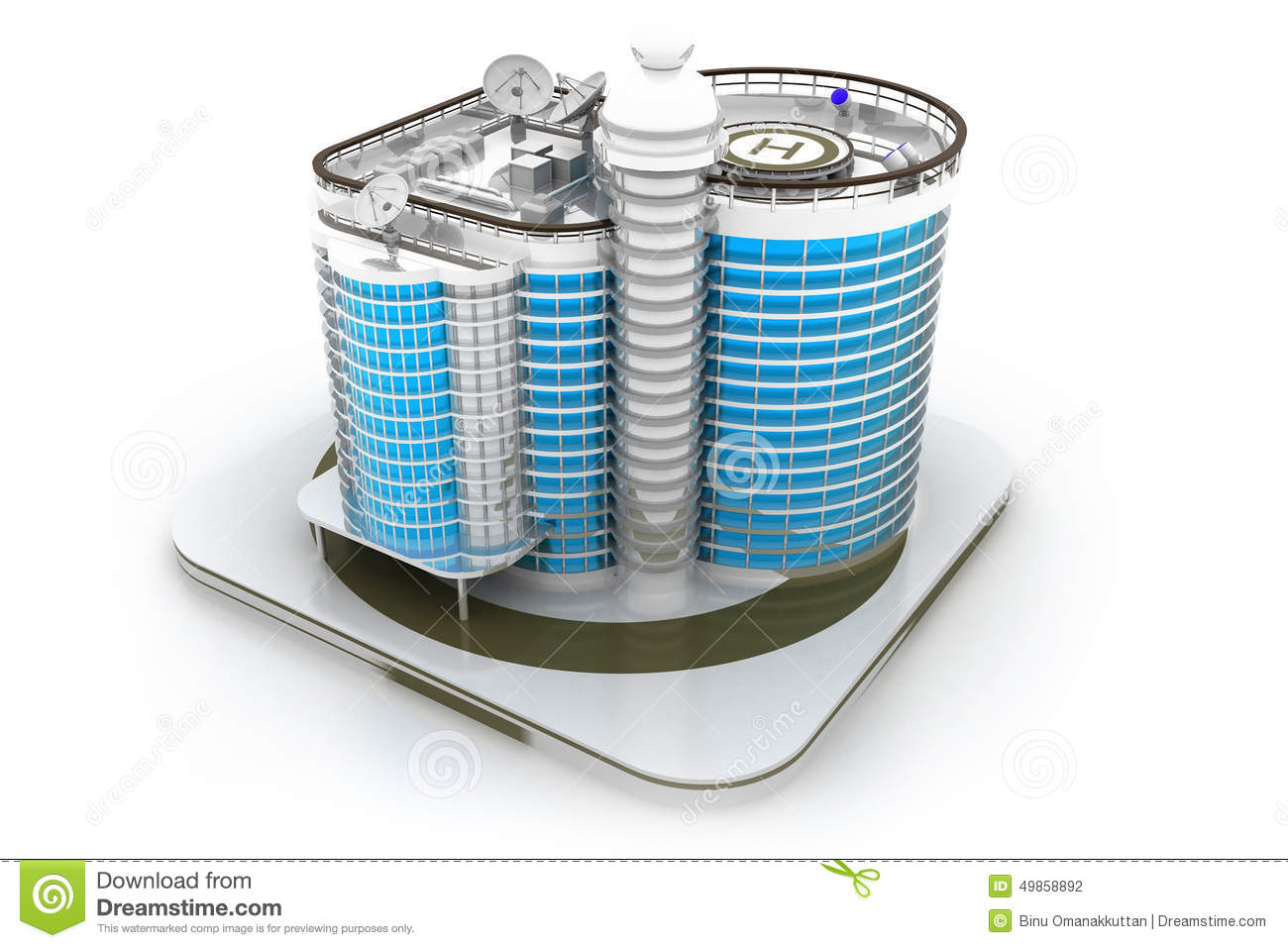 3d building model stock illustration illustration of design 49858892