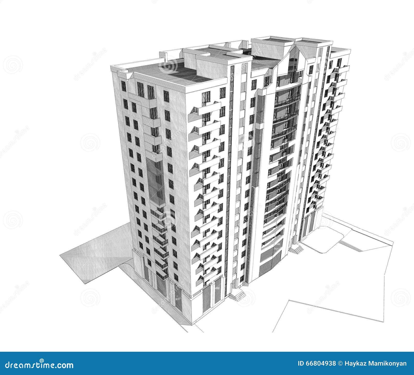 3d Building Stock Illustration Image 66804938