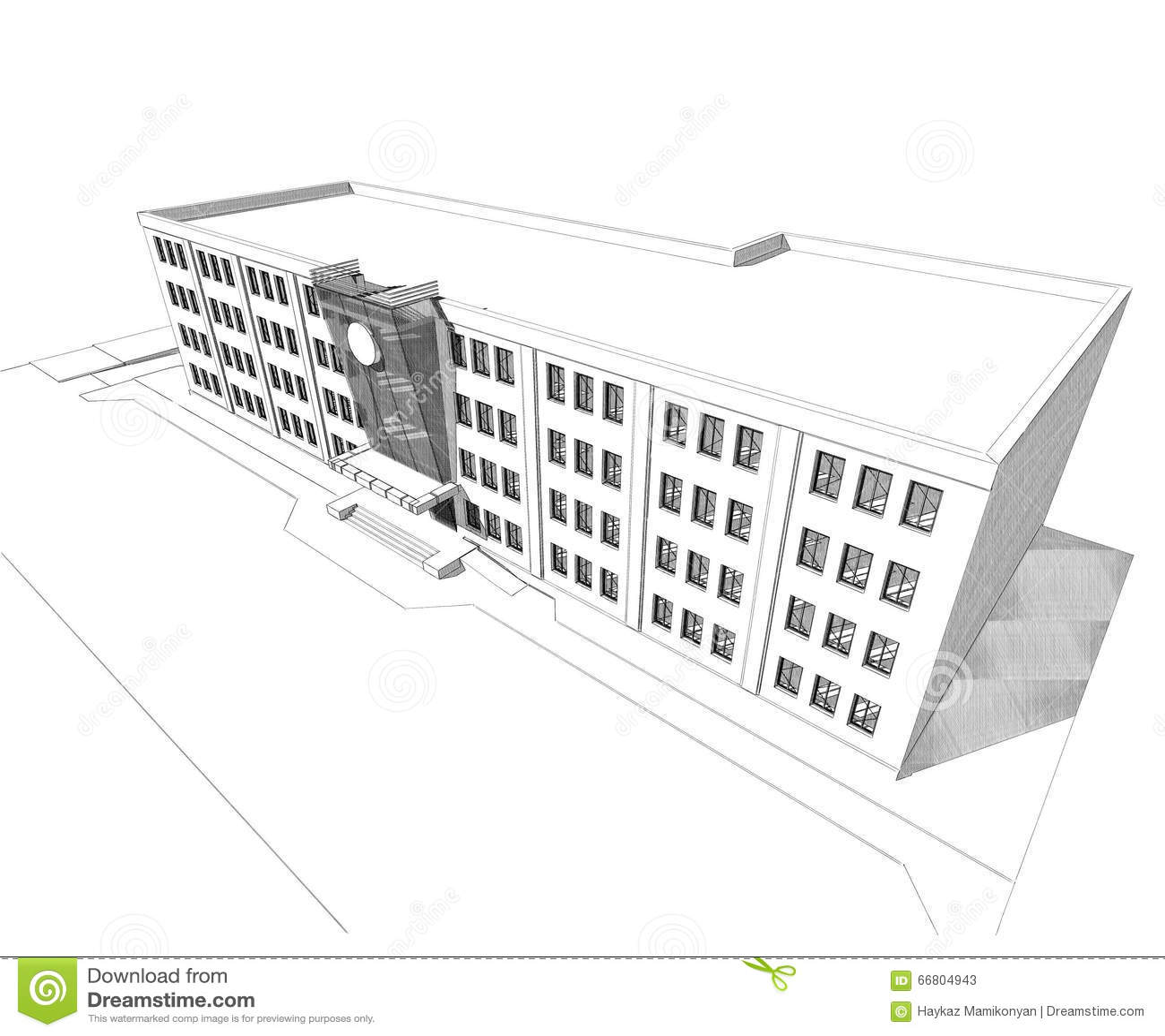 3d Building Stock Illustration Image 66804943