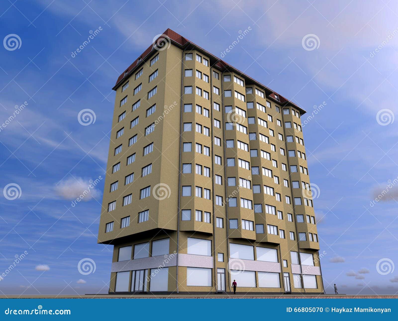 3d Building Stock Illustration Image 66805070