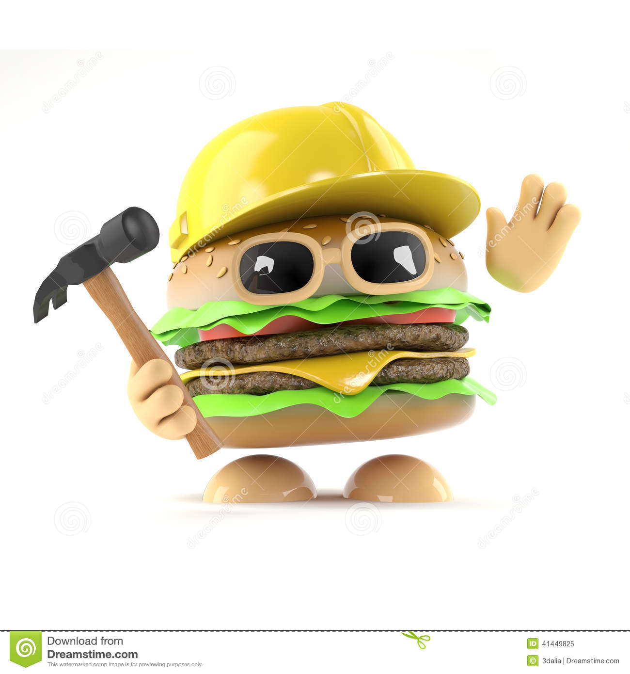 3d burger builder stock illustration image 41449825 for 3d setup builder