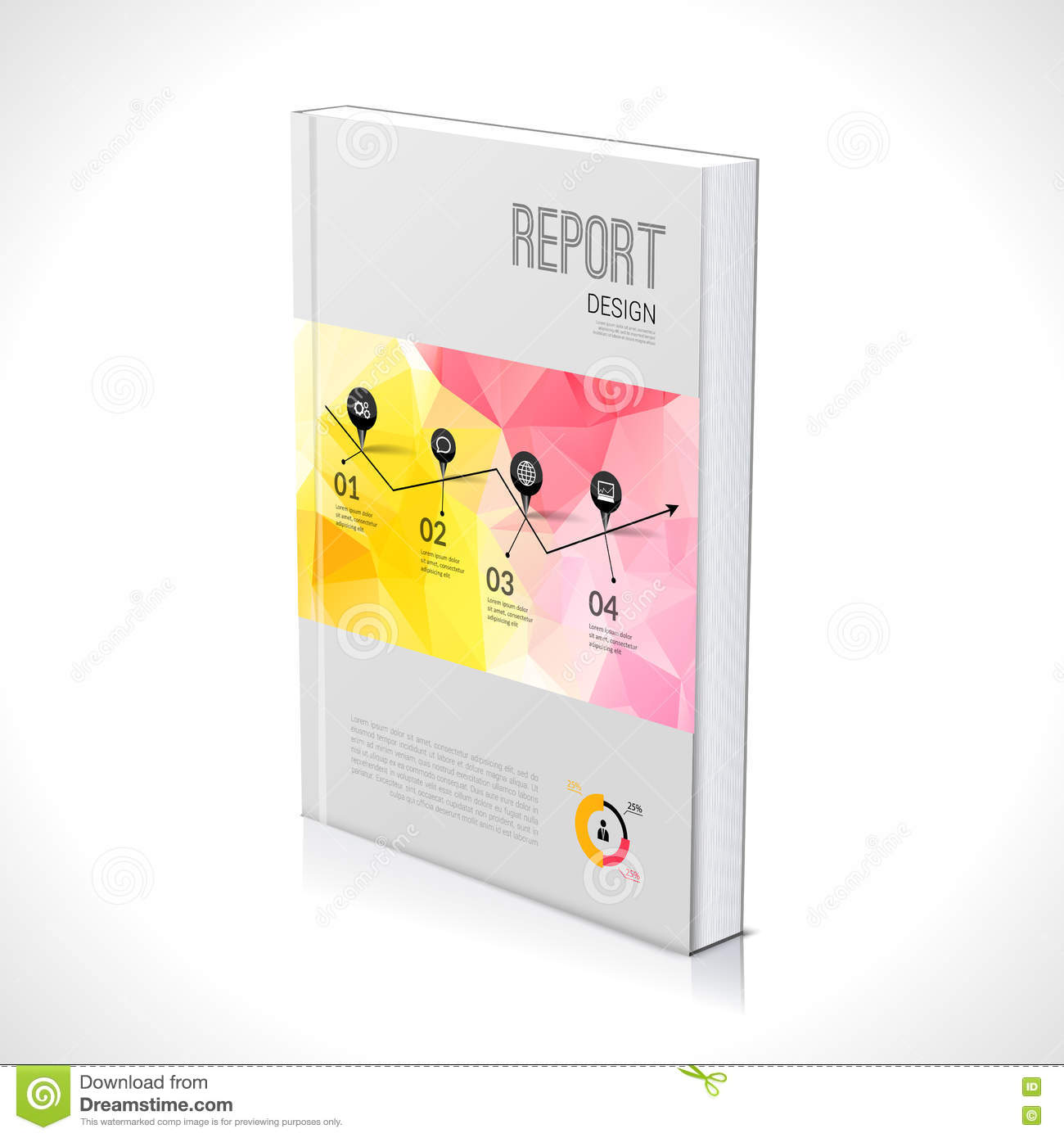 3d business design template cover brochure book flyer magazine