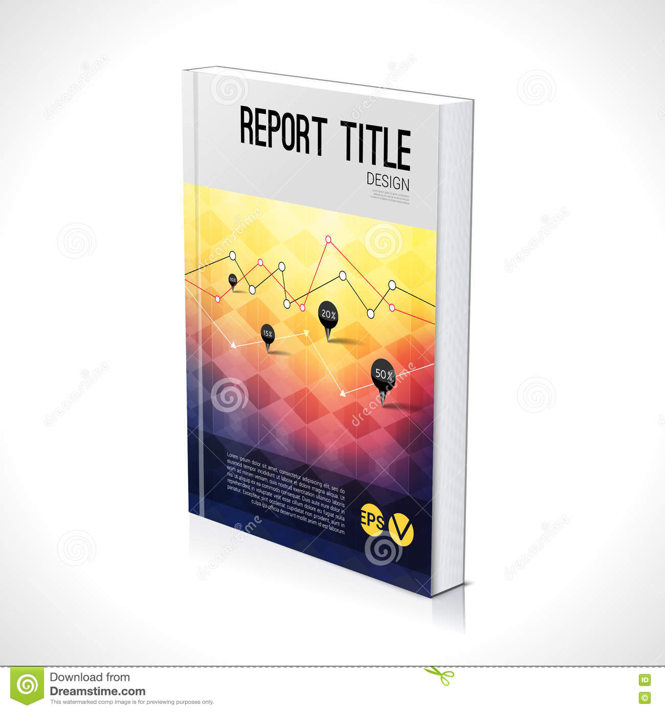 Vector Brochure Flyer Magazine Folder T Shirt Cover: 3D Business Design Template. Cover Brochure Book Flyer
