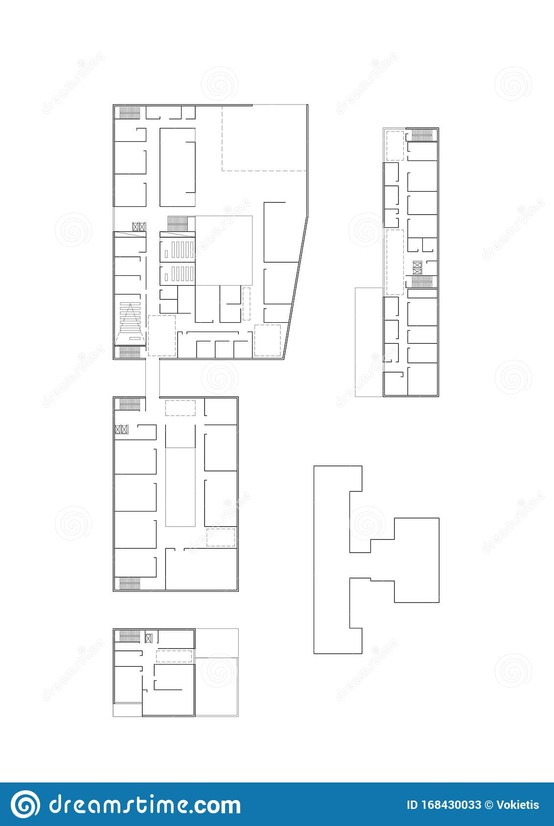 2d Cad Drawing Floor Plan Of The University Building Complex Stock Illustration Illustration Of Architectural Labor 168430033